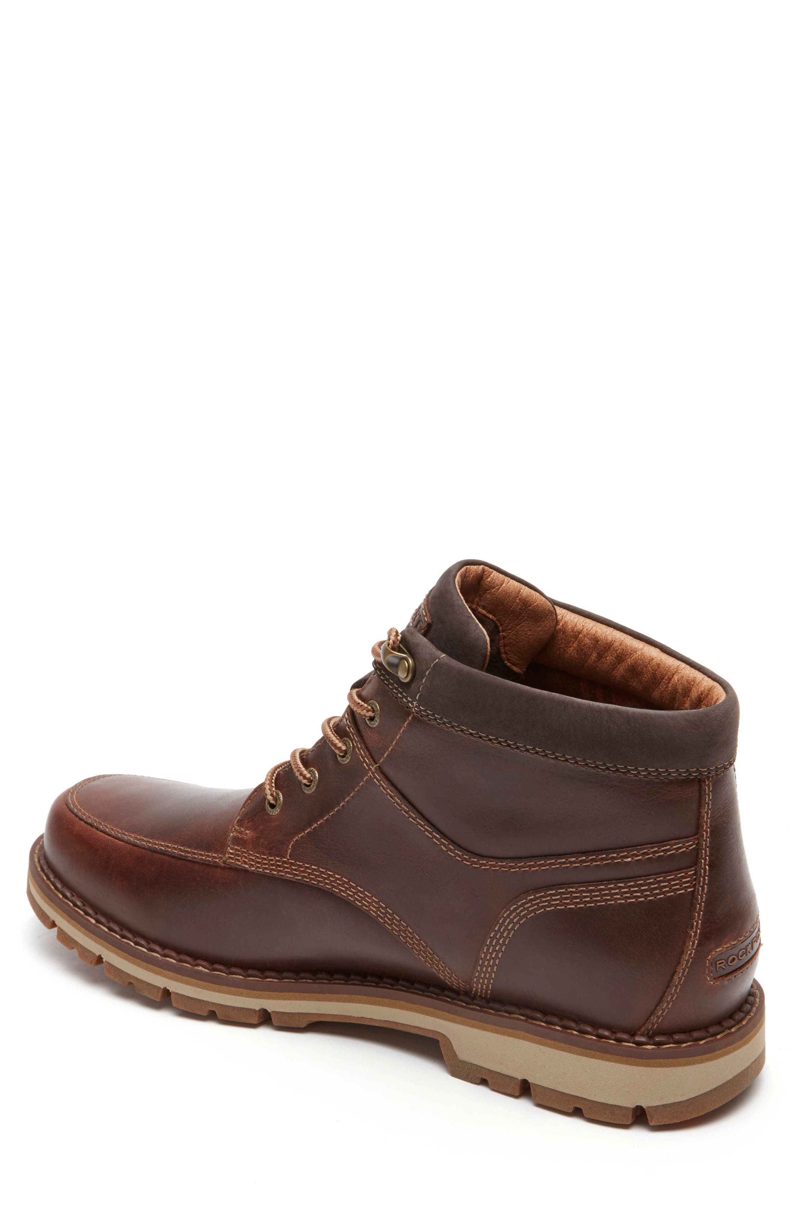 Centry Moc Toe Boot,                             Alternate thumbnail 2, color,                             Brown Leather