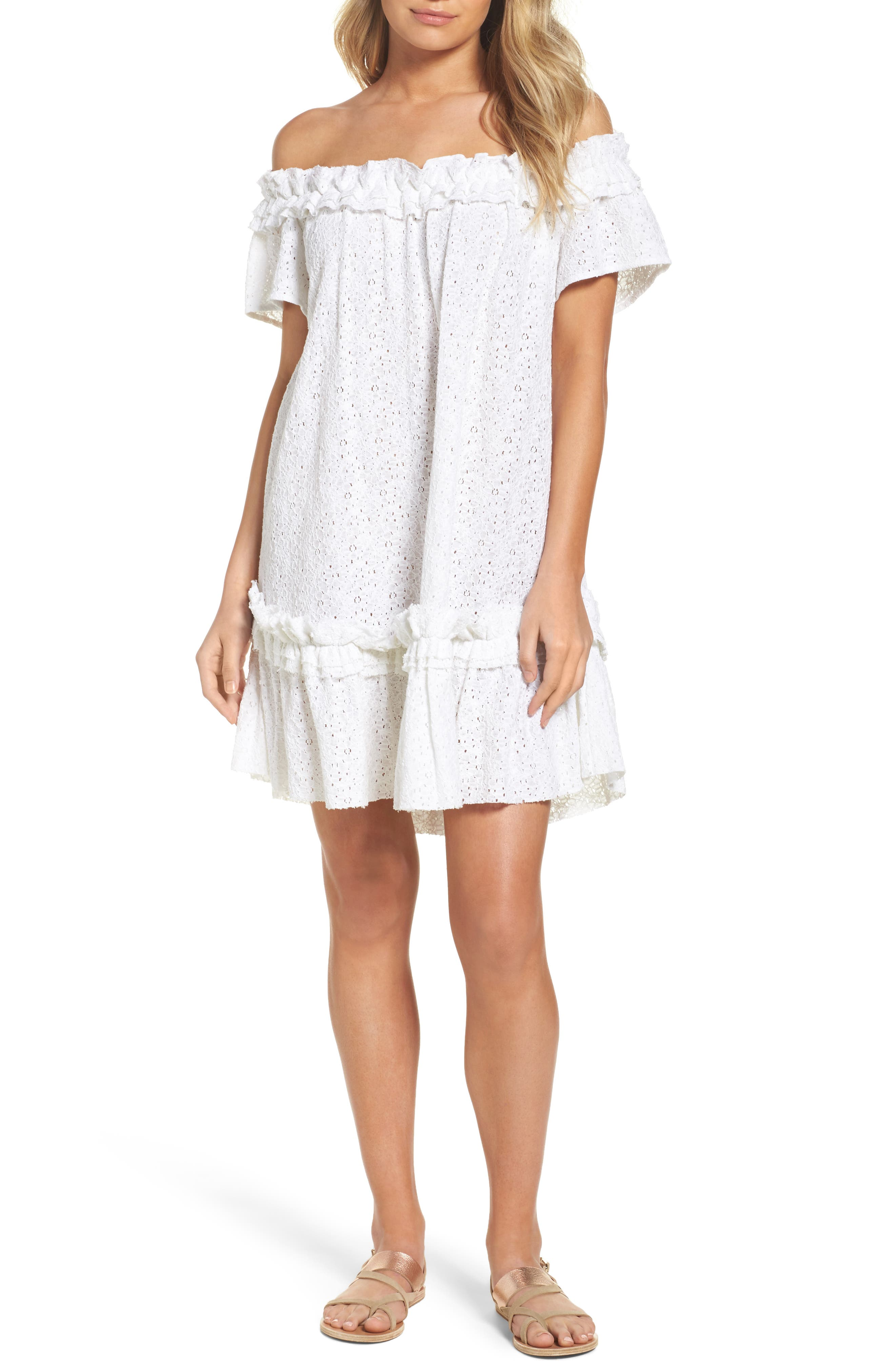 Mojito Cover-Up Dress,                             Main thumbnail 1, color,                             White