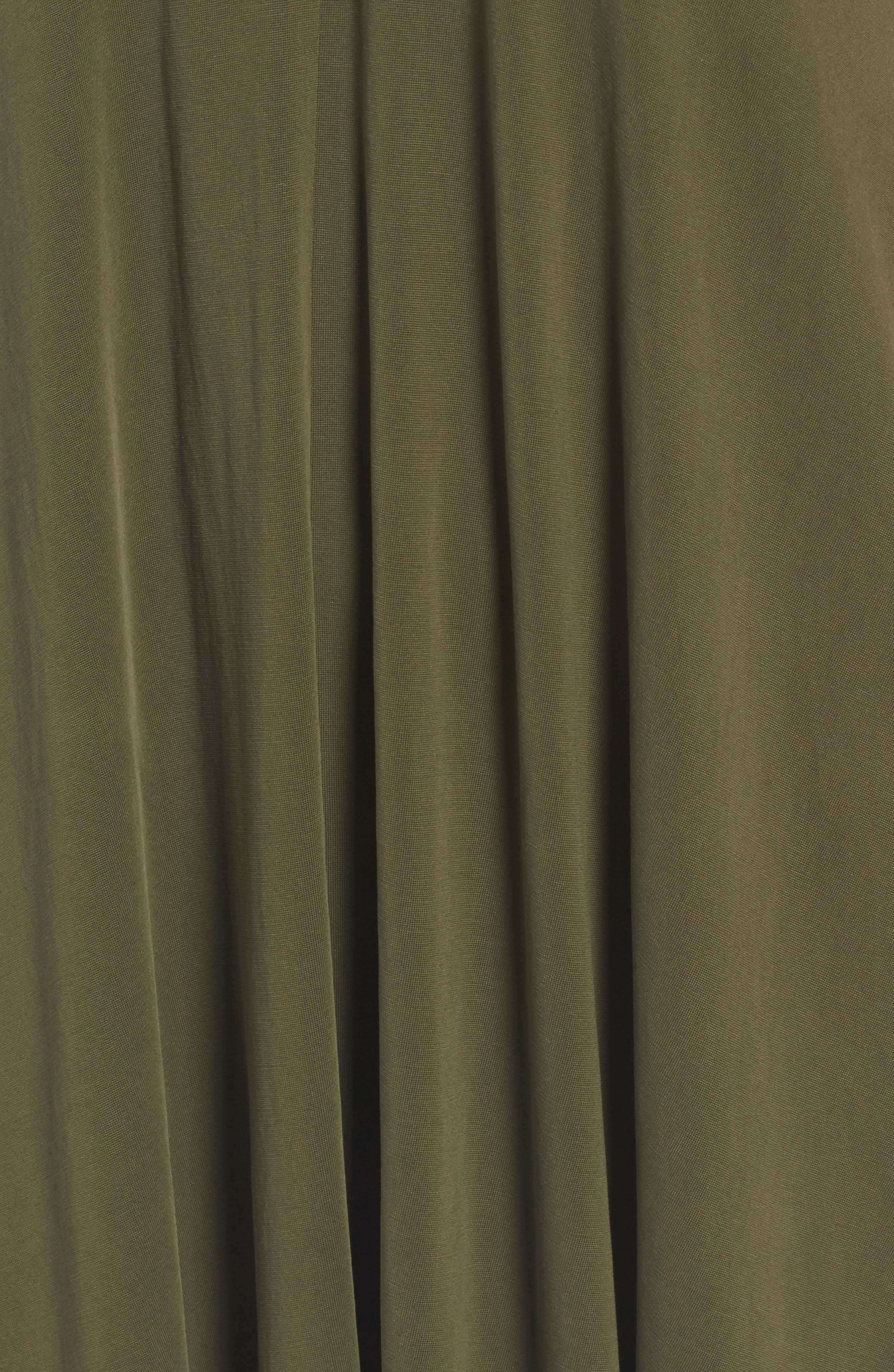 T-Back Swing Dress,                             Alternate thumbnail 5, color,                             Olive