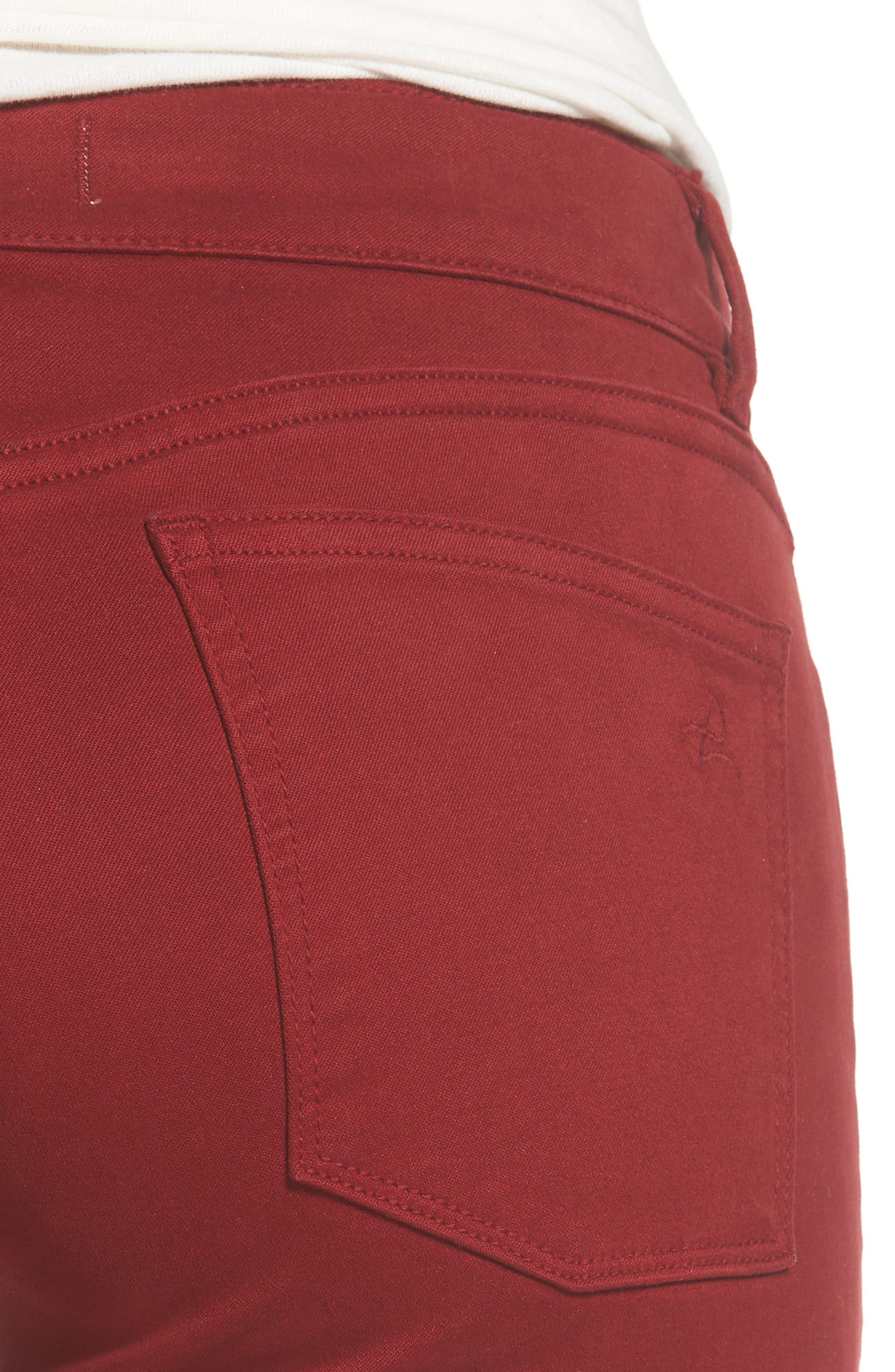 Emma Power Legging Jeans,                             Alternate thumbnail 4, color,                             Rhubarb