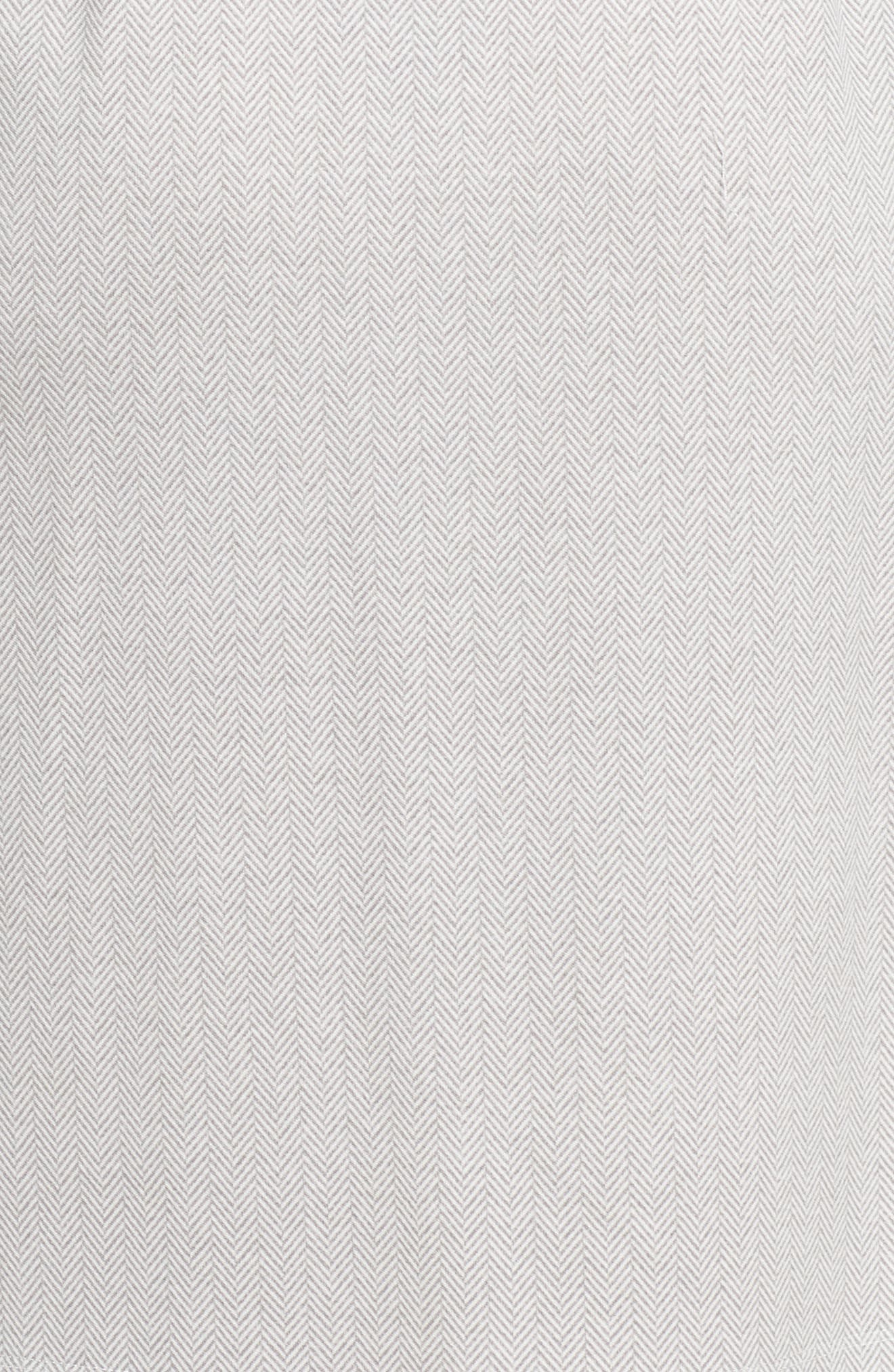 Short Robe,                             Alternate thumbnail 5, color,                             Grey Herringbone