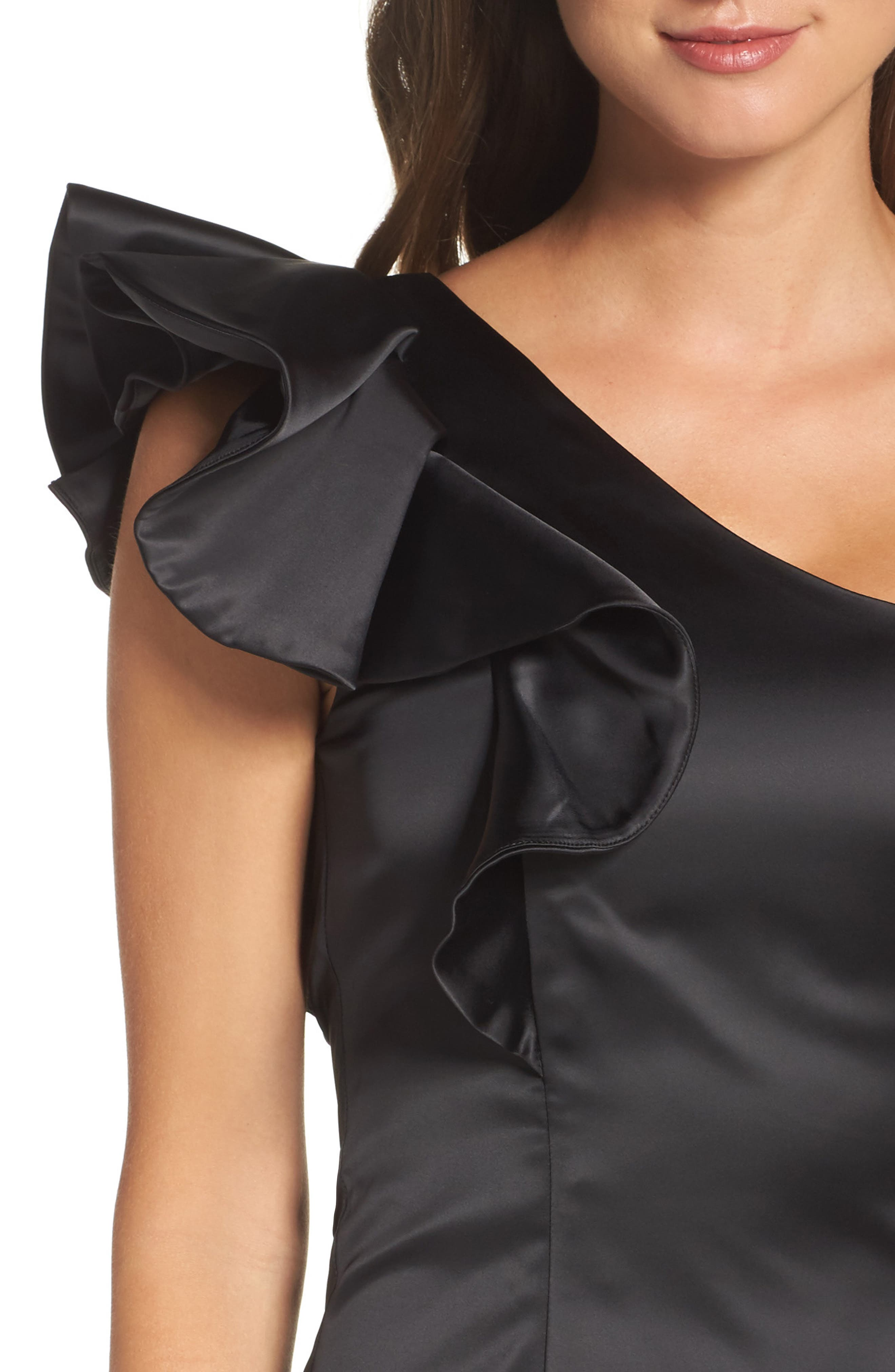Alternate Image 4  - Bardot Estella Frill One-Shoulder Minidress