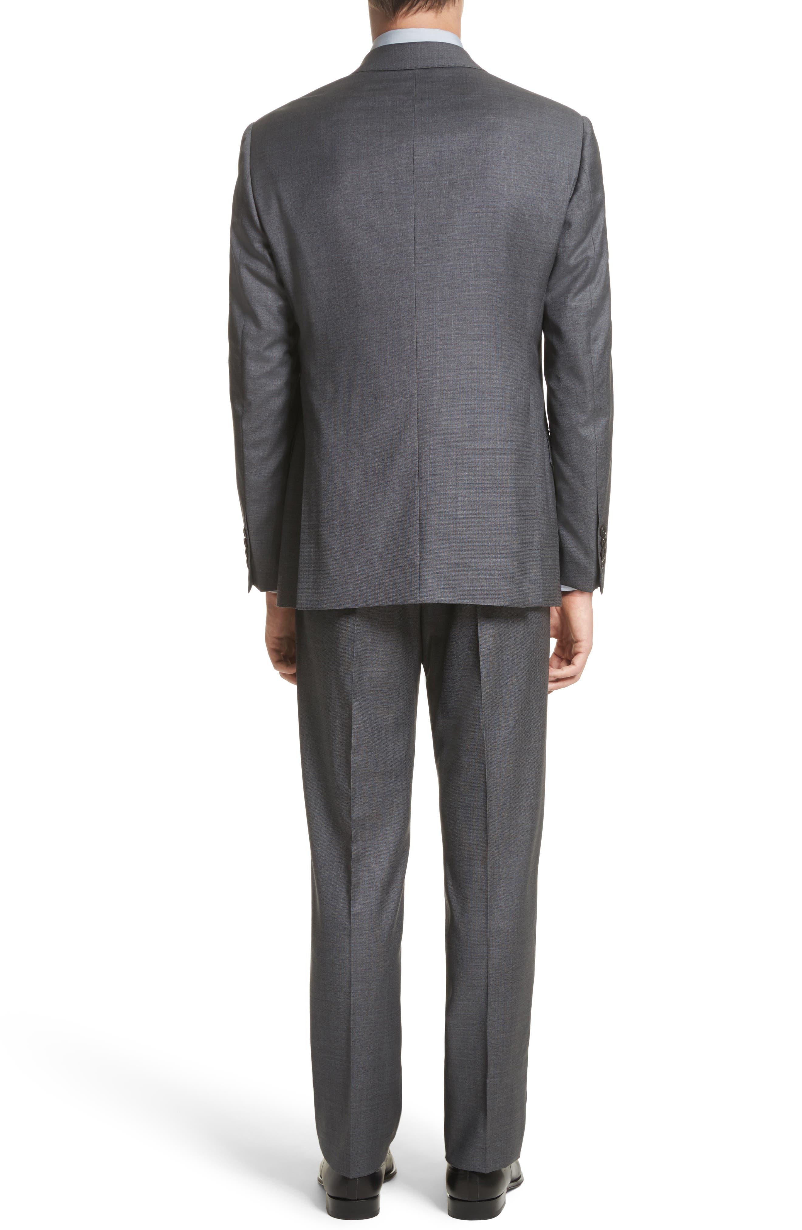Alternate Image 2  - Armani Collezioni G-Line Trim Fit Solid Wool Suit