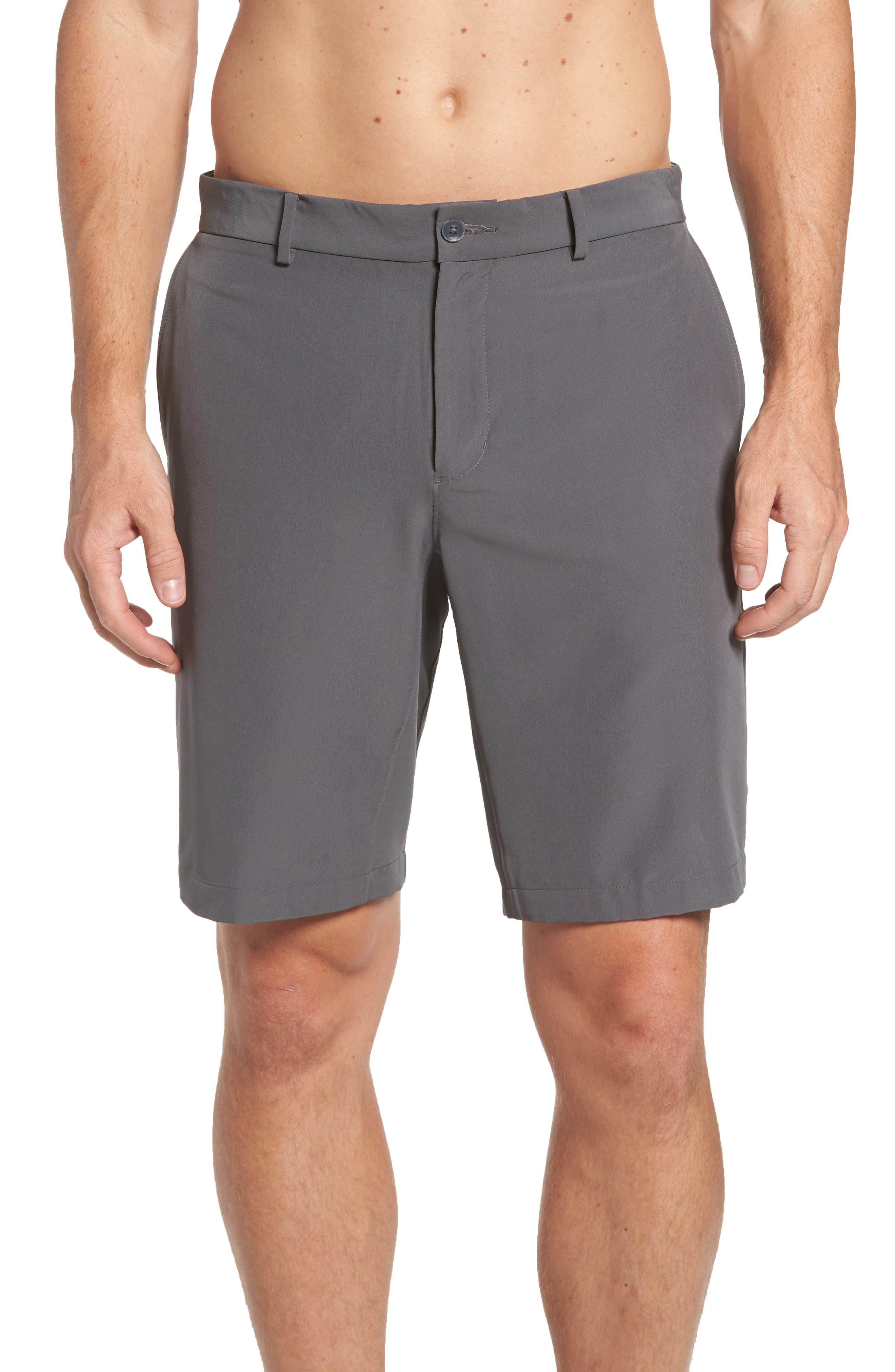 Hybrid Flex Golf Shorts,                             Alternate thumbnail 2, color,                             Dark Grey/ Black
