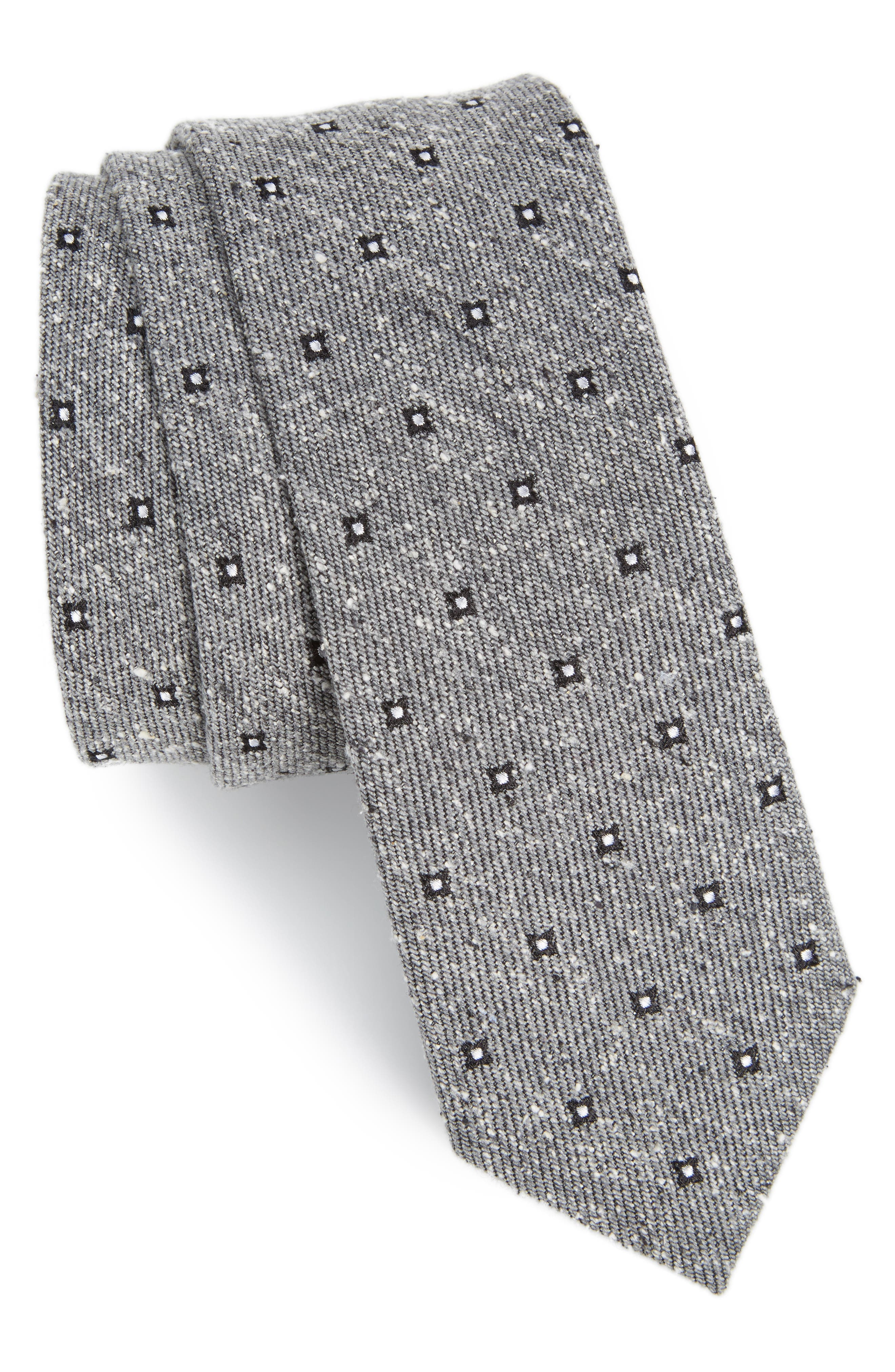 THE TIE BAR Medallion Ridges Silk Tie