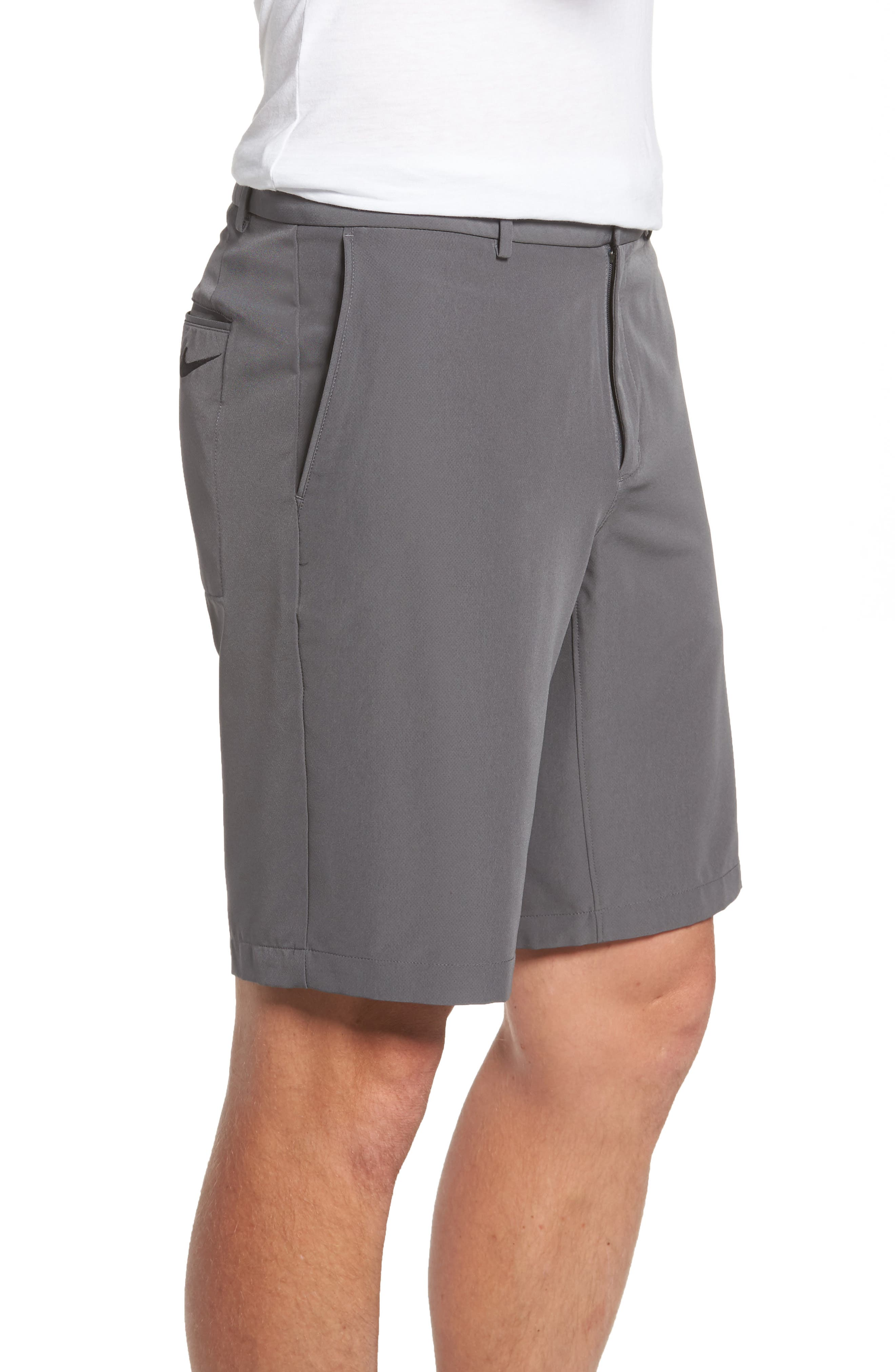 Hybrid Flex Golf Shorts,                             Alternate thumbnail 4, color,                             Dark Grey/ Black