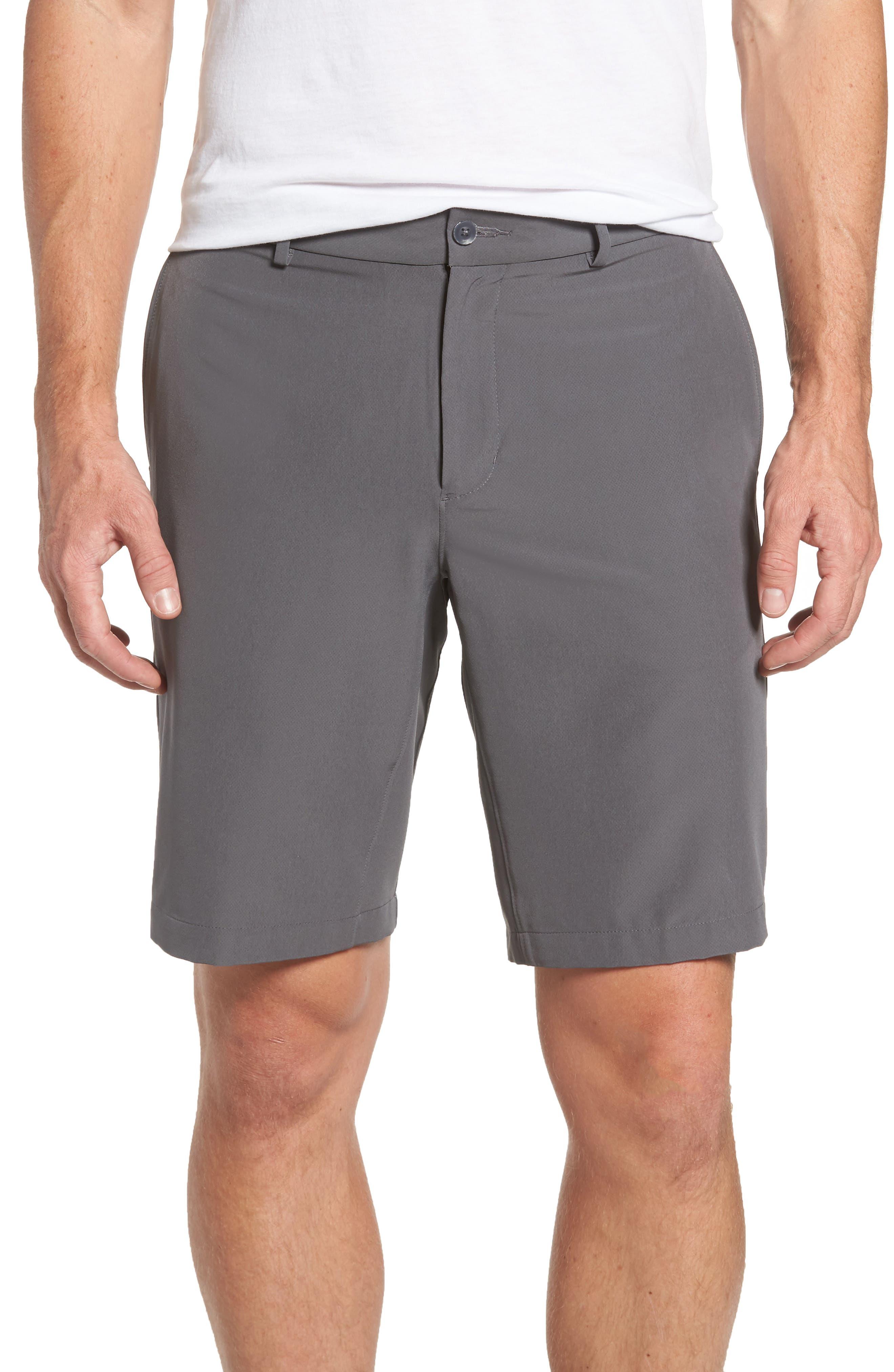 Hybrid Flex Golf Shorts,                             Main thumbnail 1, color,                             Dark Grey/ Black