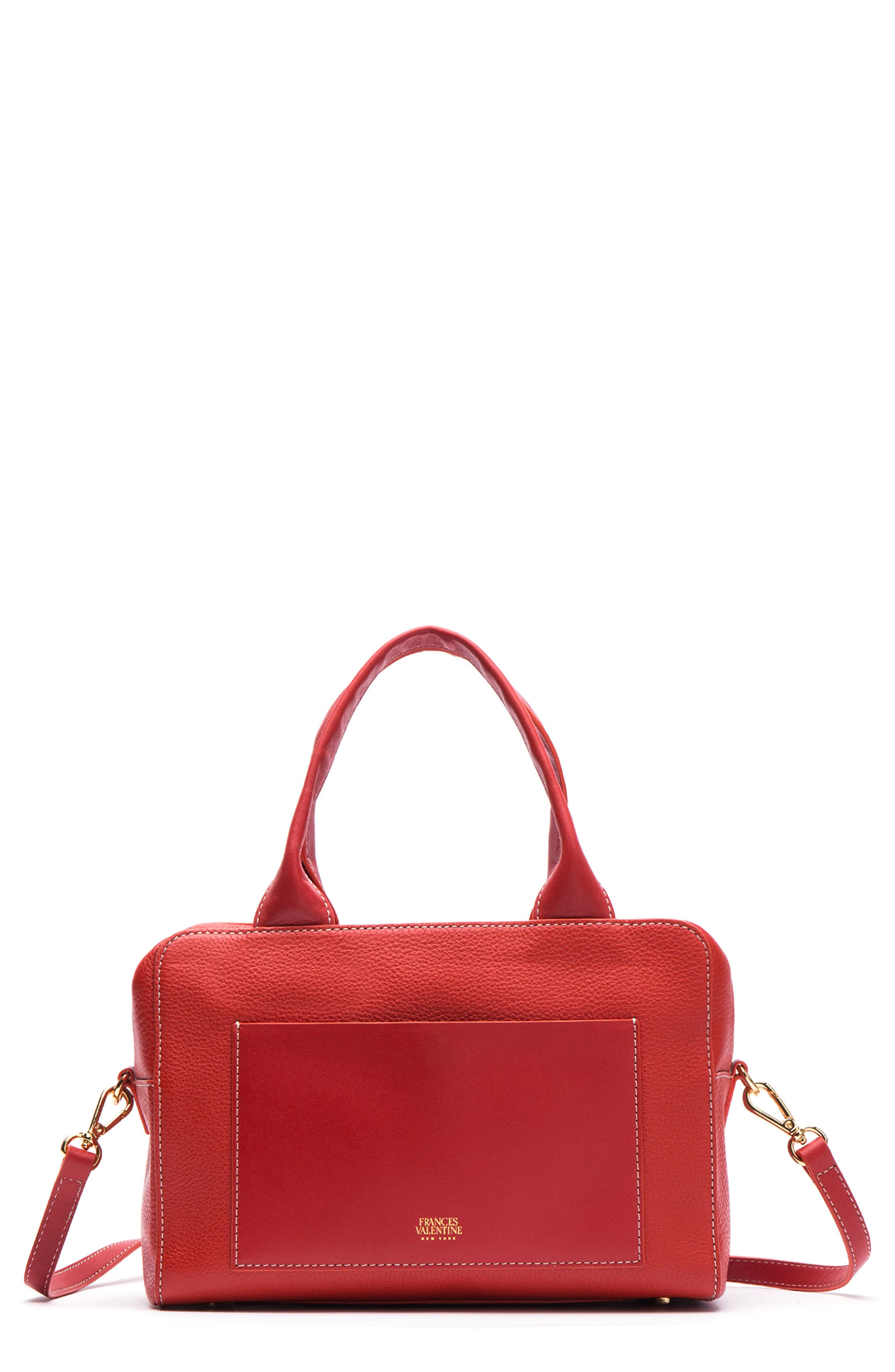 Medium Maddy Satchel,                             Main thumbnail 1, color,                             Coral