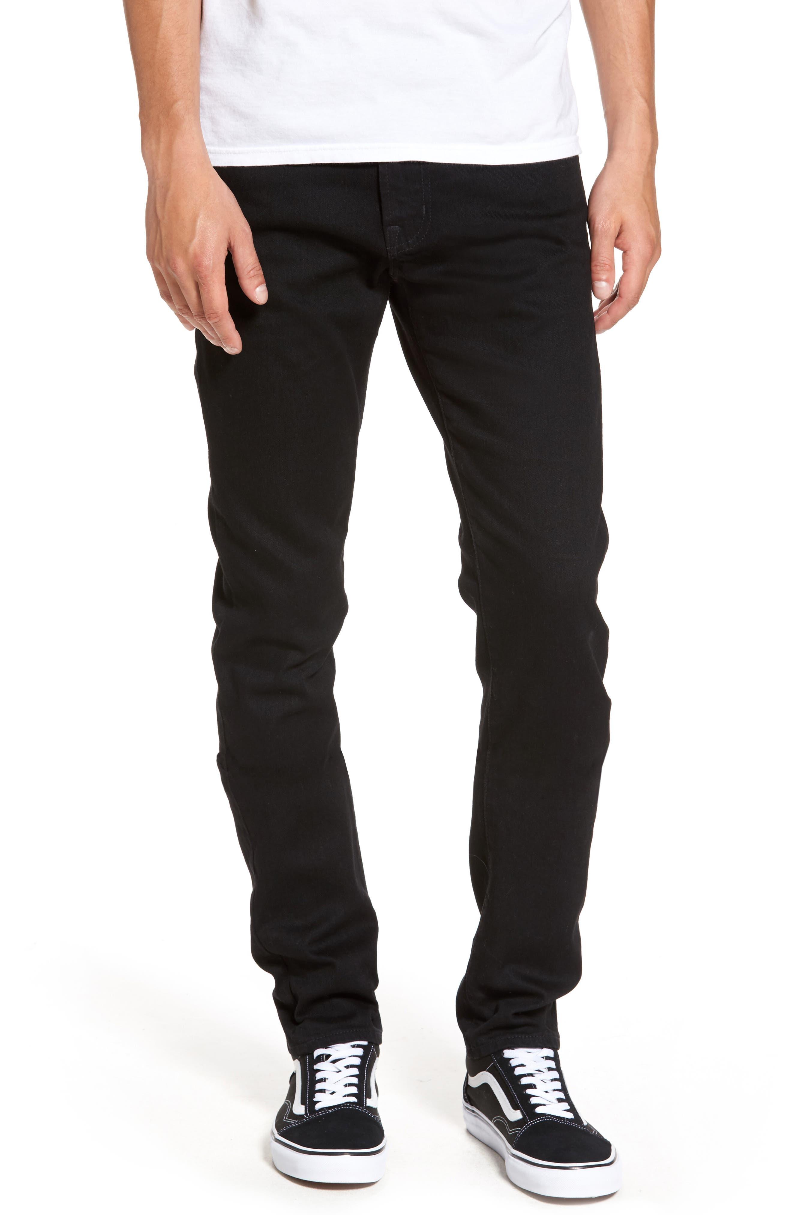 Alternate Image 1 Selected - AG Dylan Slim Skinny Fit Jeans (Deep Pitch)