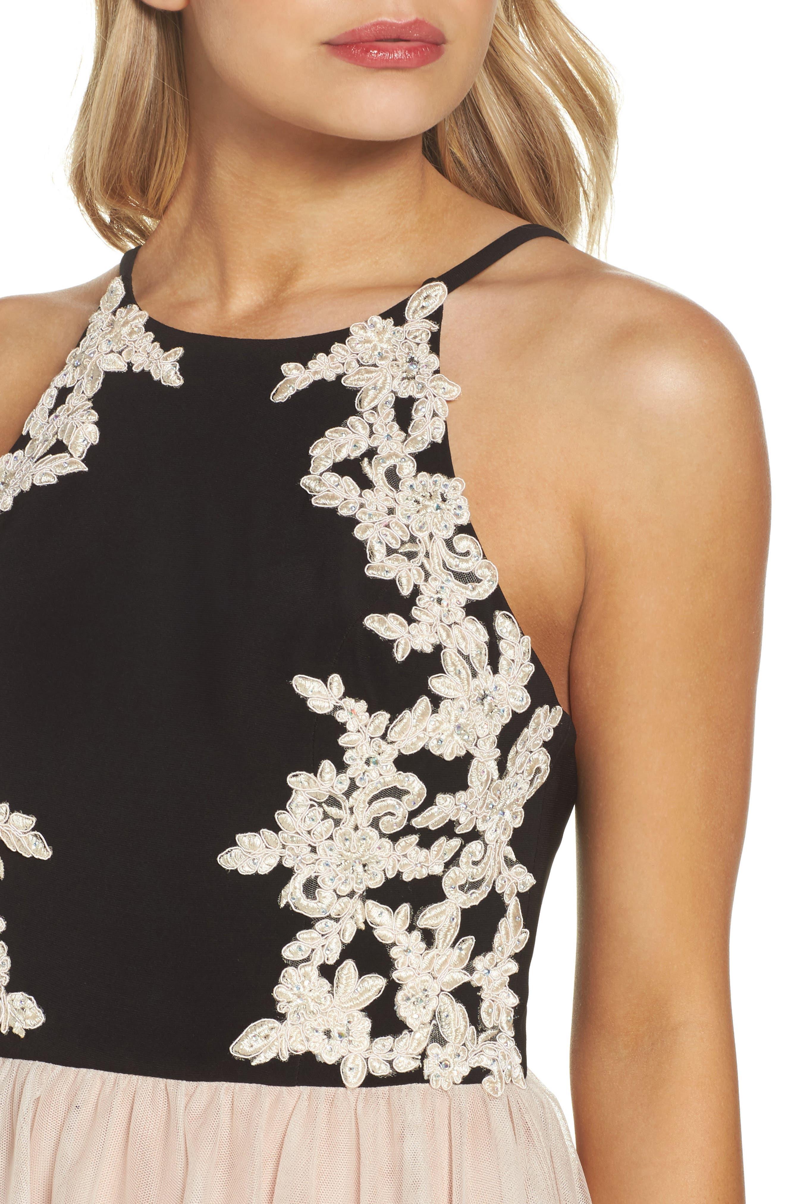 Alternate Image 4  - Blondie Nites Appliqué Fit & Flare Dress