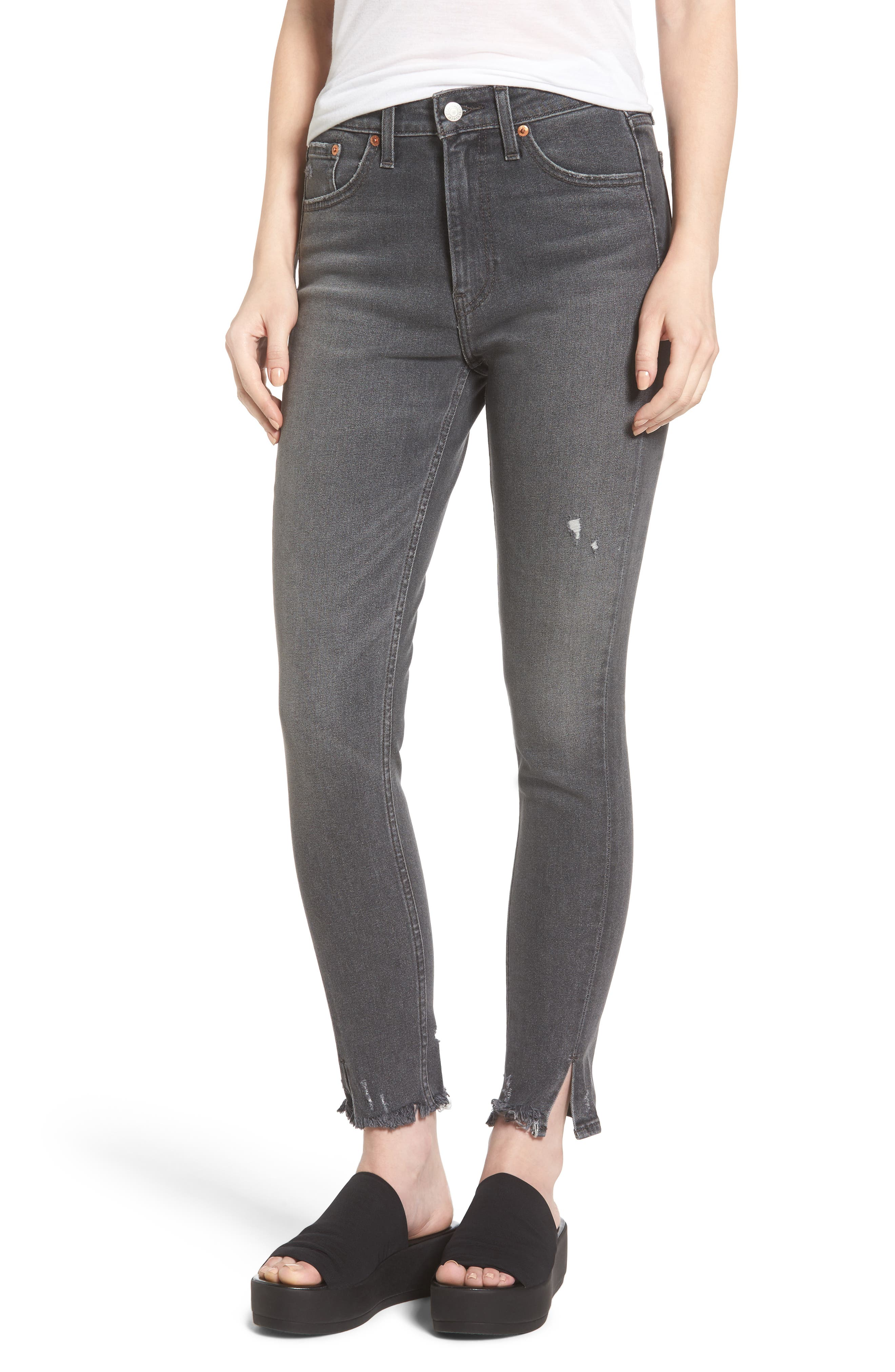 721 Altered High Waist Skinny Jeans,                         Main,                         color, Up In Smoke
