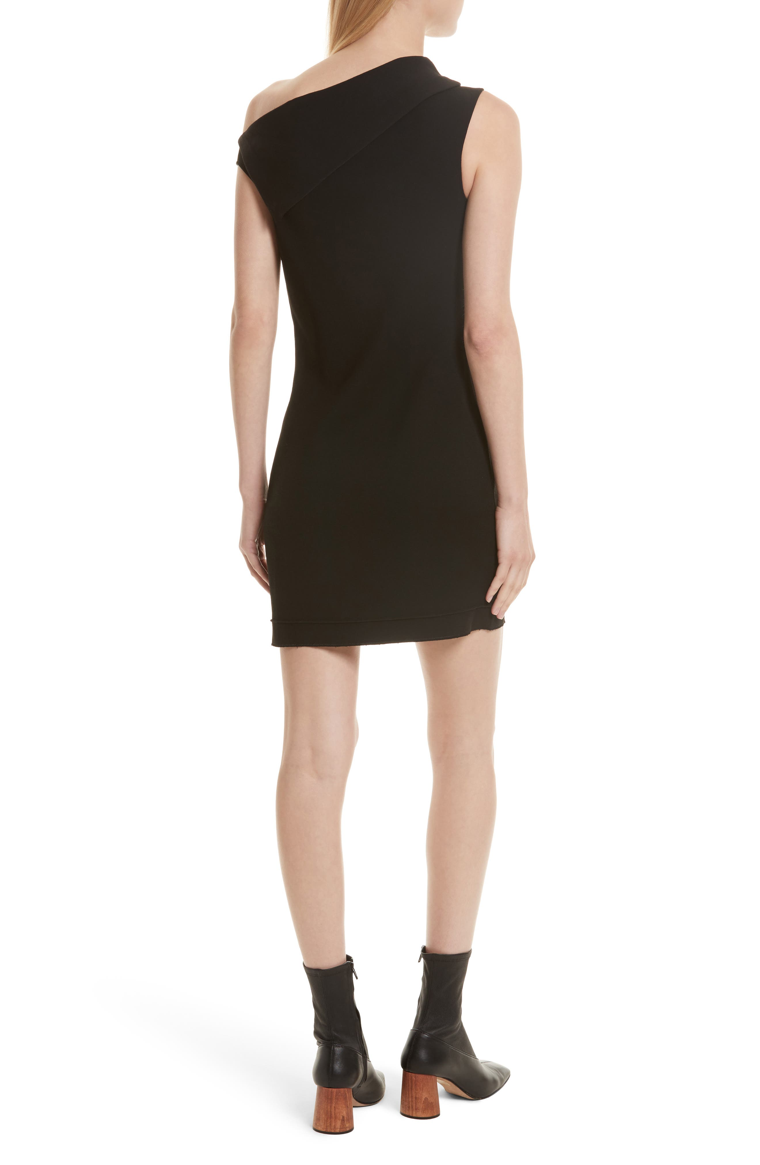 Alternate Image 2  - Helmut Lang Asymmetric Wool Blend Scuba Minidress