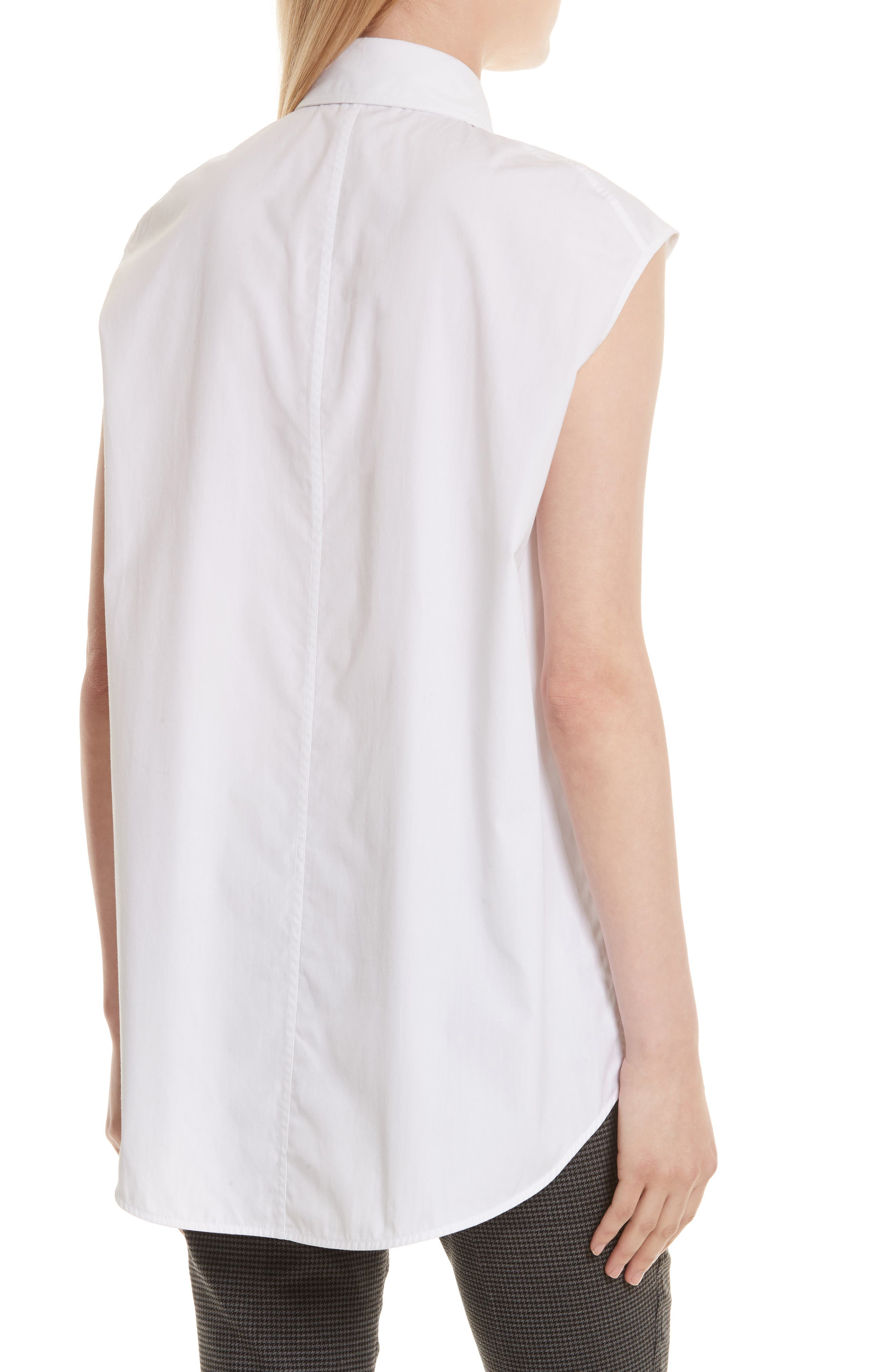 Eyelet Cotton Poplin Shirt,                             Alternate thumbnail 3, color,                             Bright White