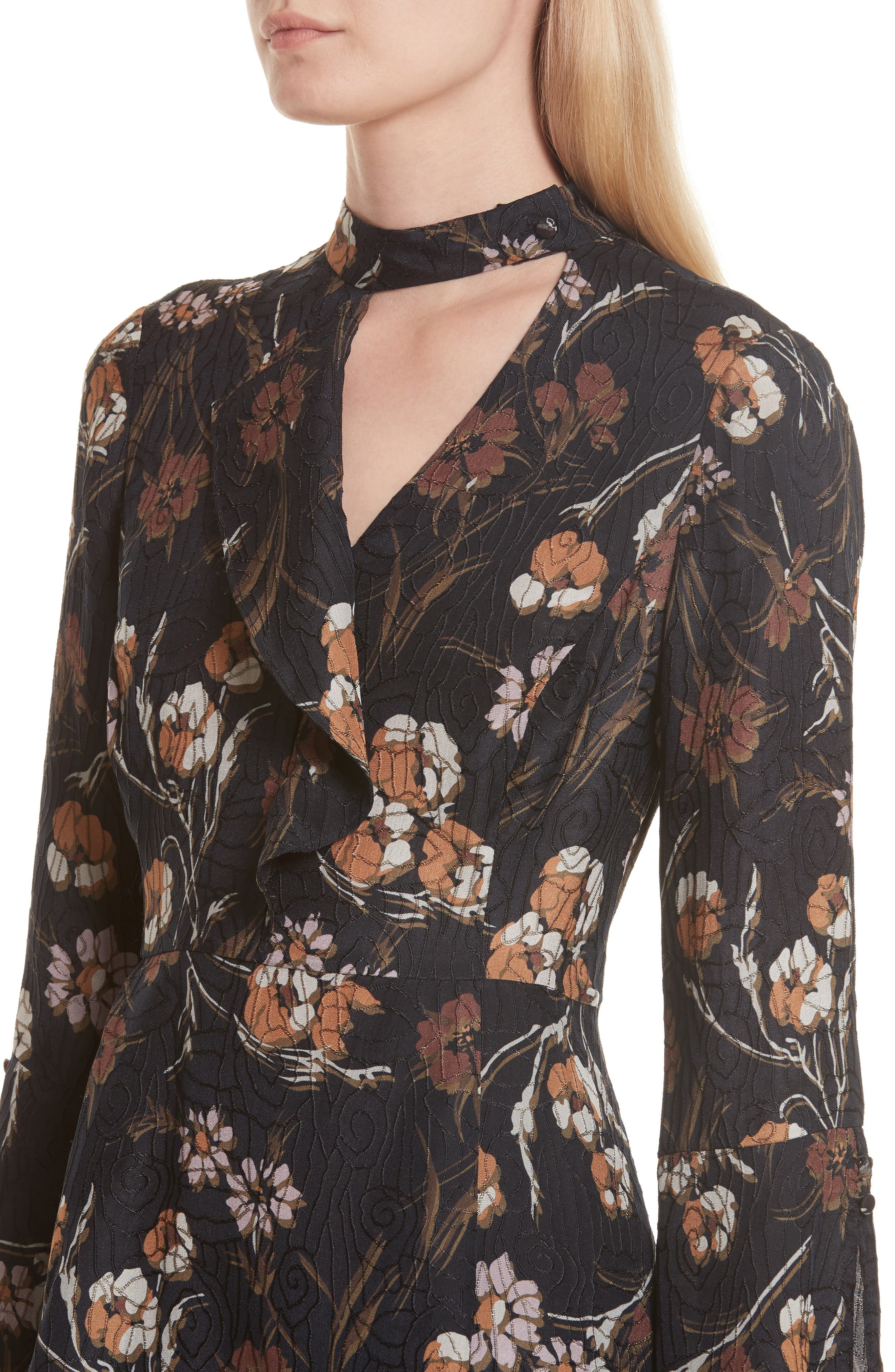 Alternate Image 4  - Derek Lam 10 Crosby Cascade Floral Silk Blend Dress