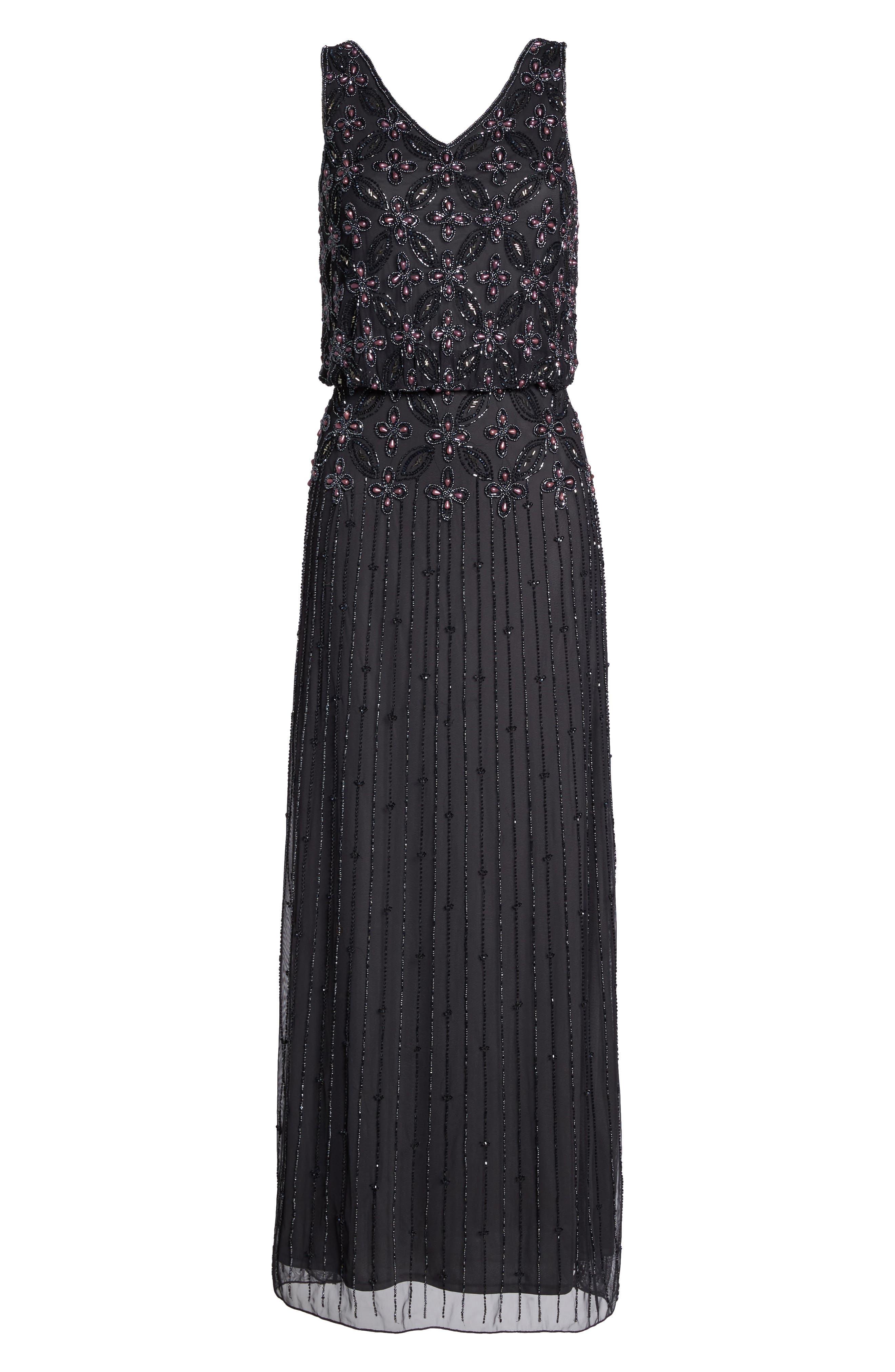 Alternate Image 6  - Pisarro Nights Beaded Blouson Gown (Regular & Petite)
