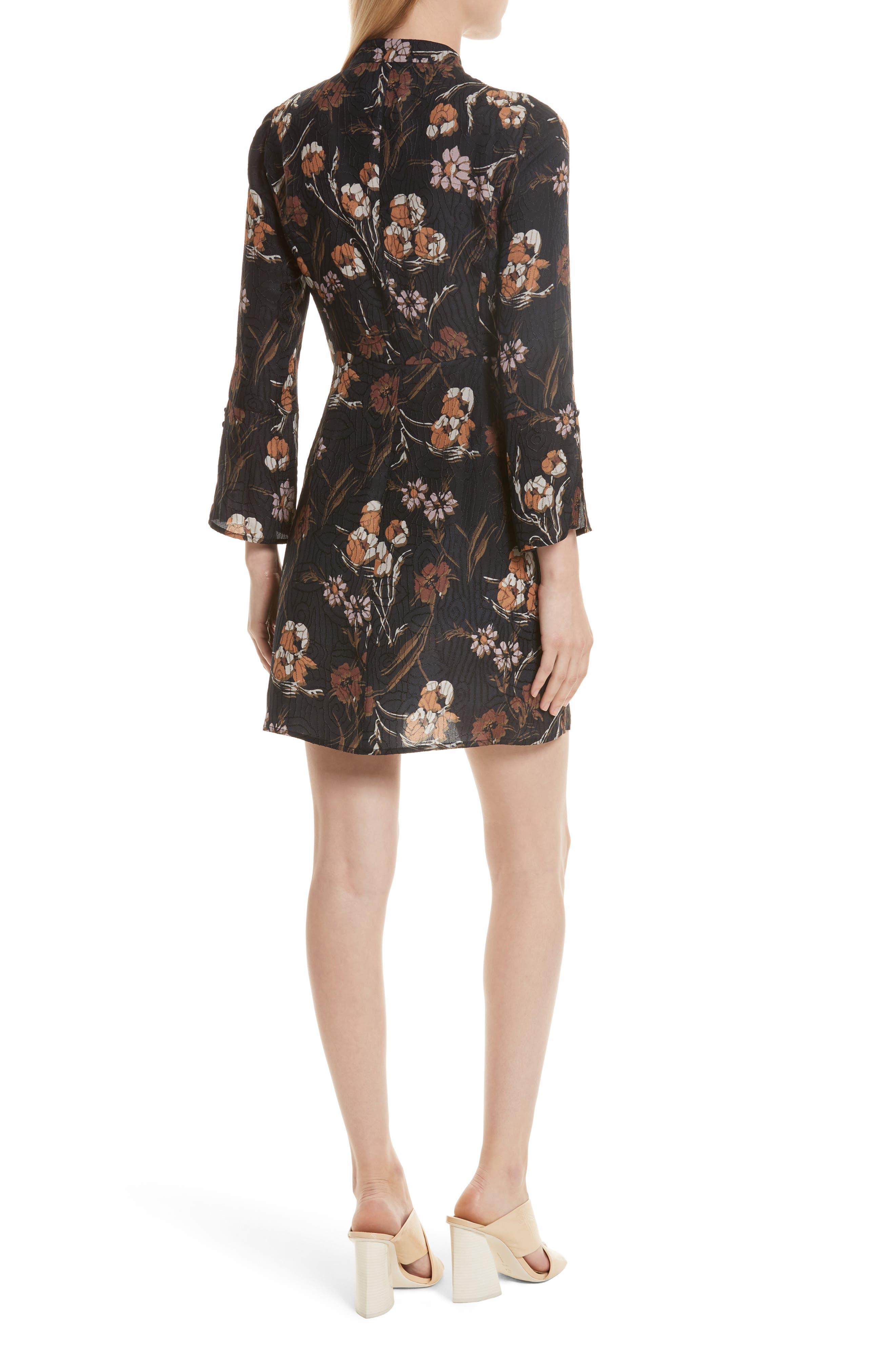 Alternate Image 2  - Derek Lam 10 Crosby Cascade Floral Silk Blend Dress