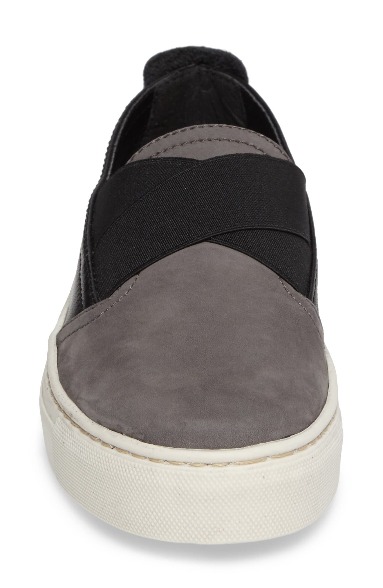 La Cross Slip-On Sneaker,                             Alternate thumbnail 4, color,                             Asfalto Black Nubuck
