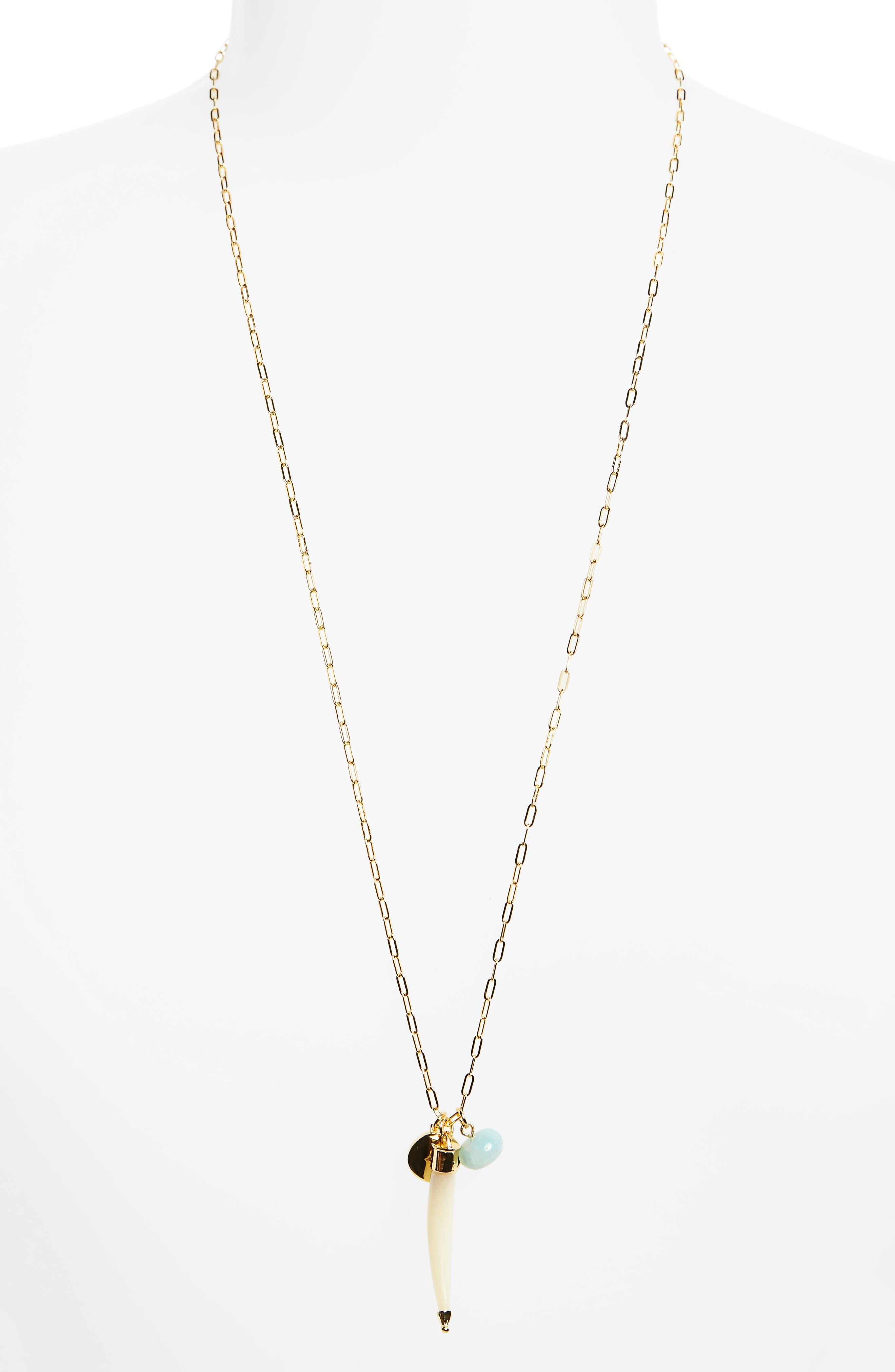 Alternate Image 1 Selected - Elizabeth and James Holly Cluster Pendant Necklace
