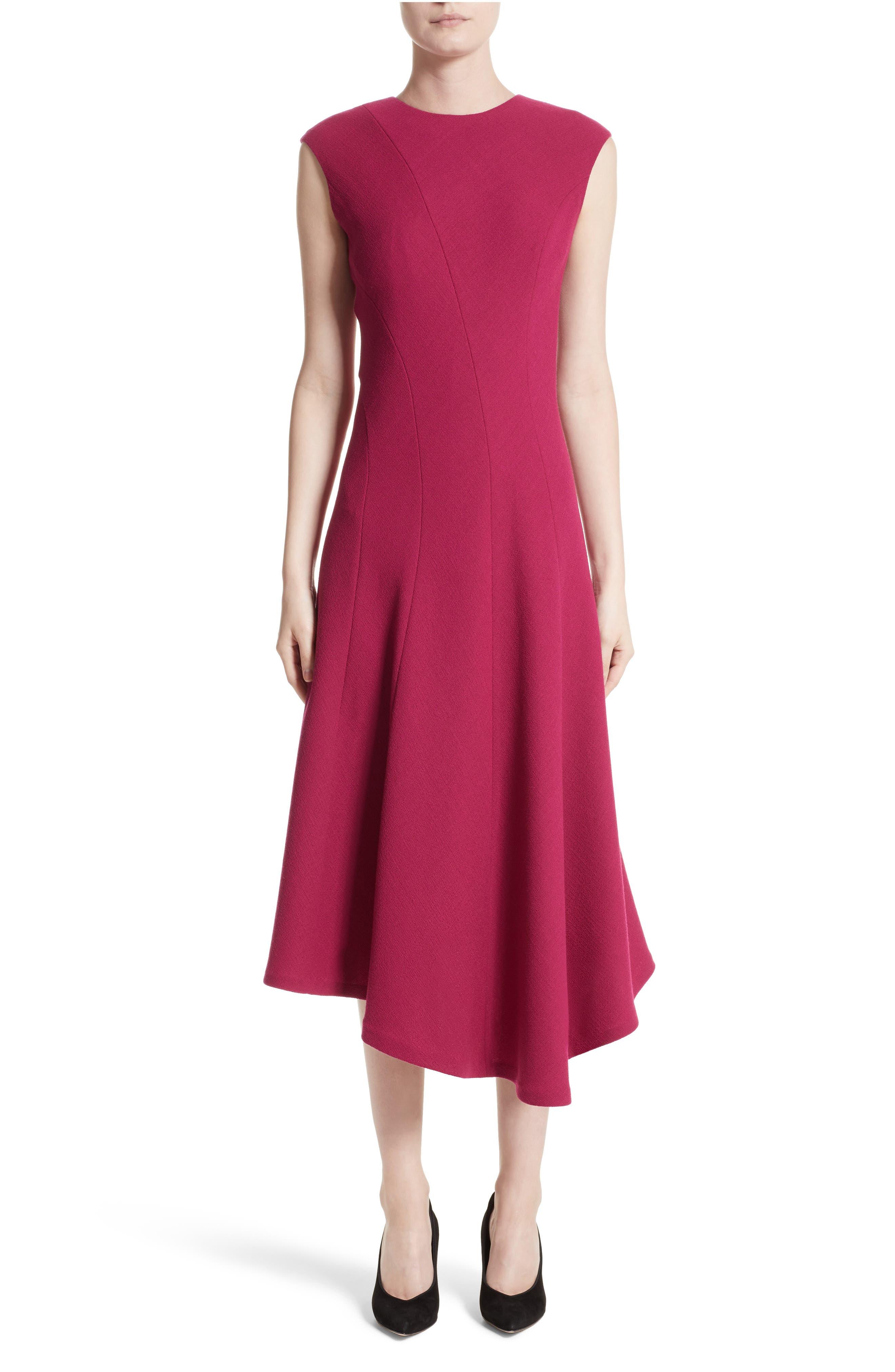 Aveena Wool Interlock Dress,                         Main,                         color, Amaryllis