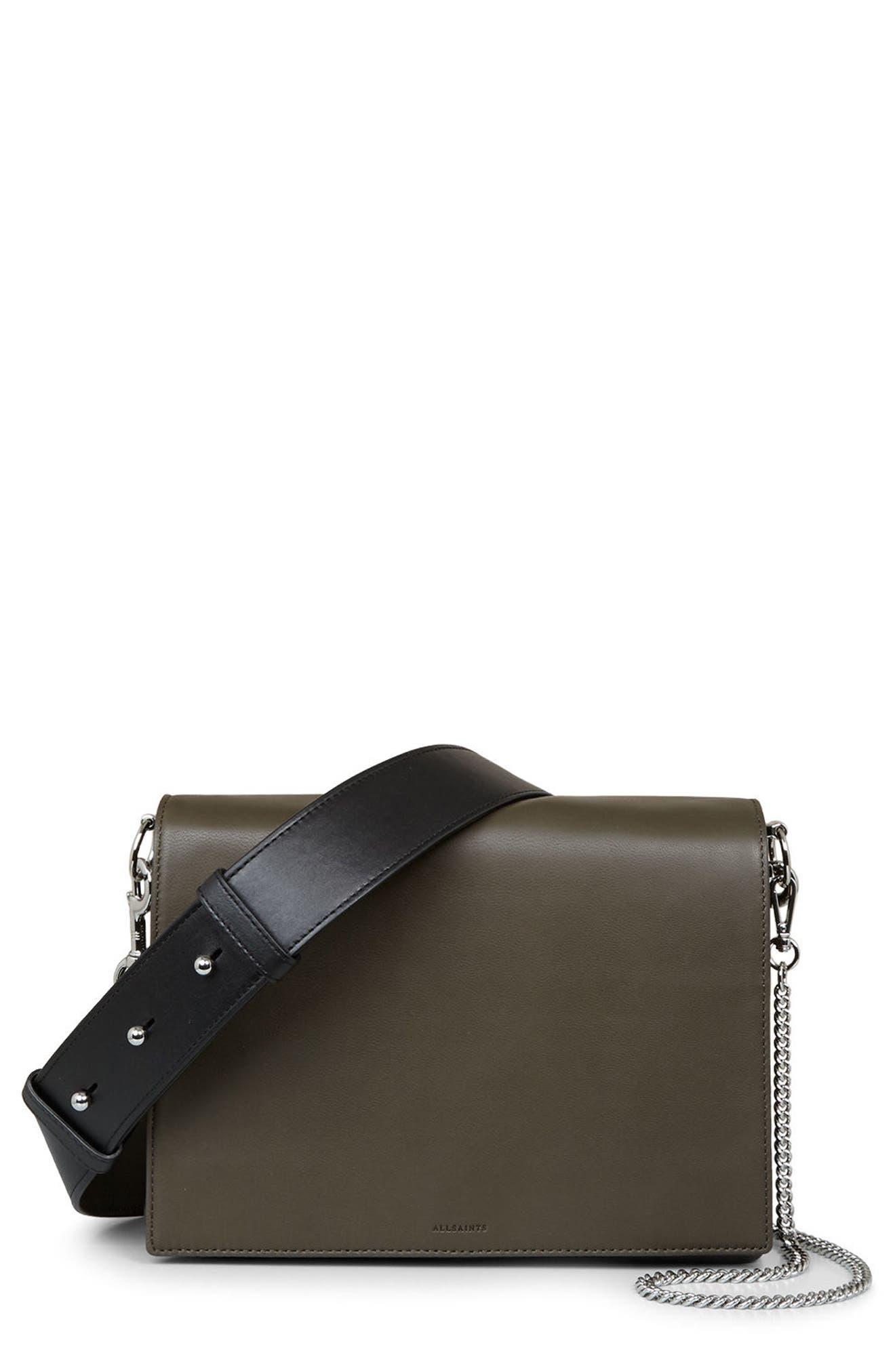 Main Image - ALLSAINTS Zep Lambskin Leather Box Bag