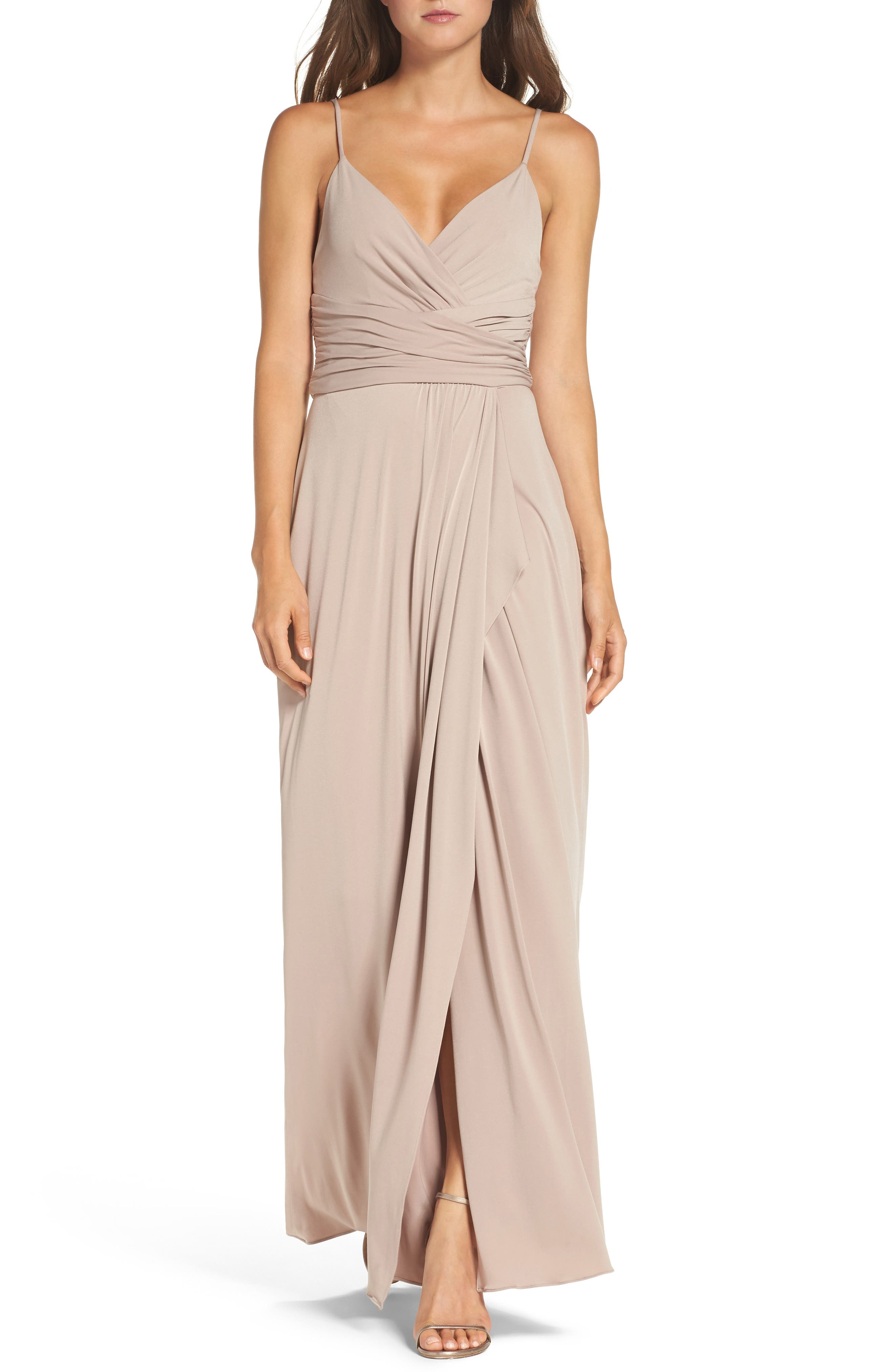 Main Image - Amsale Celina Mock Wrap Gown