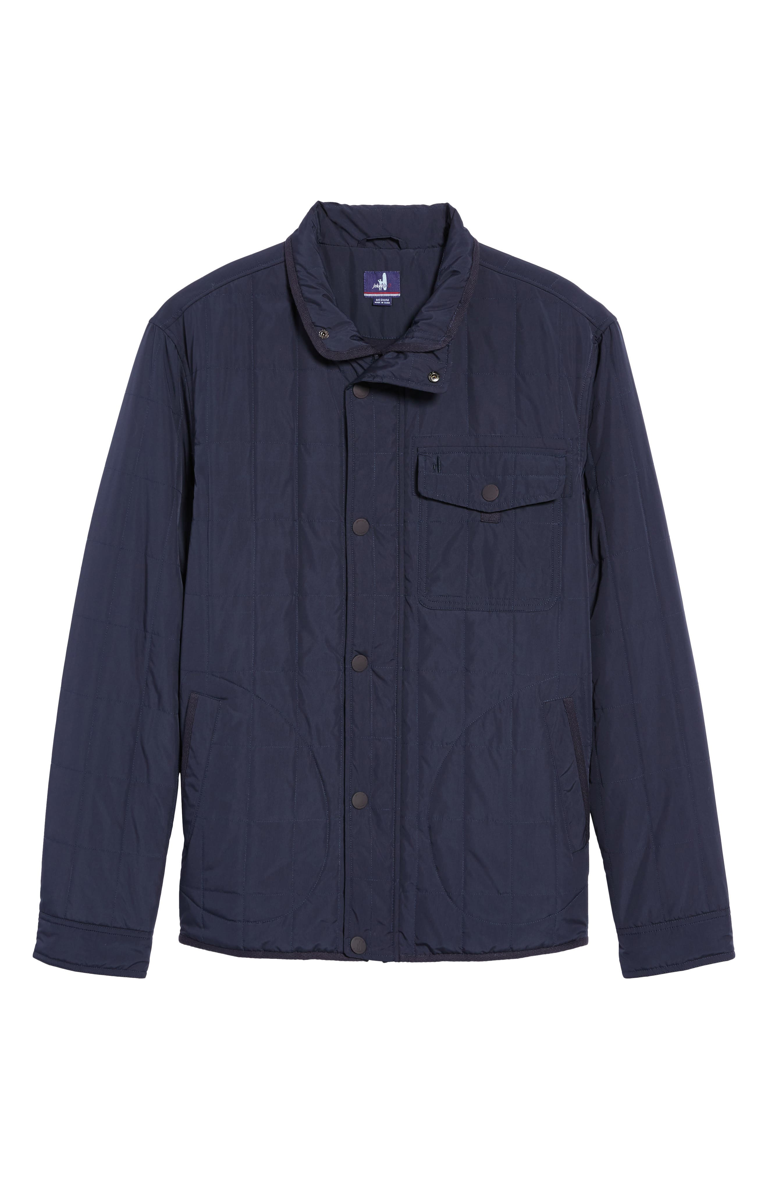 Midtown Quilted Jacket,                             Alternate thumbnail 6, color,                             Abyss