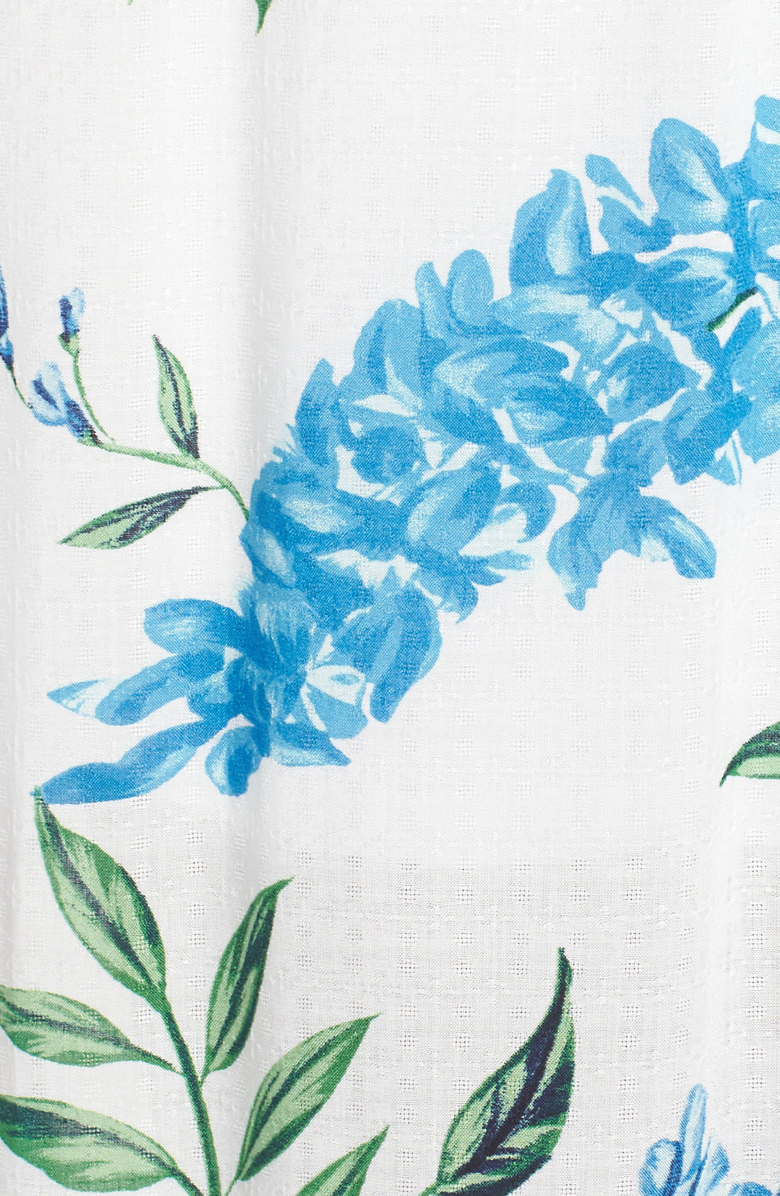 Nicola Ruffle Maxi Dress,                             Alternate thumbnail 5, color,                             Wisteria Wonder Challis