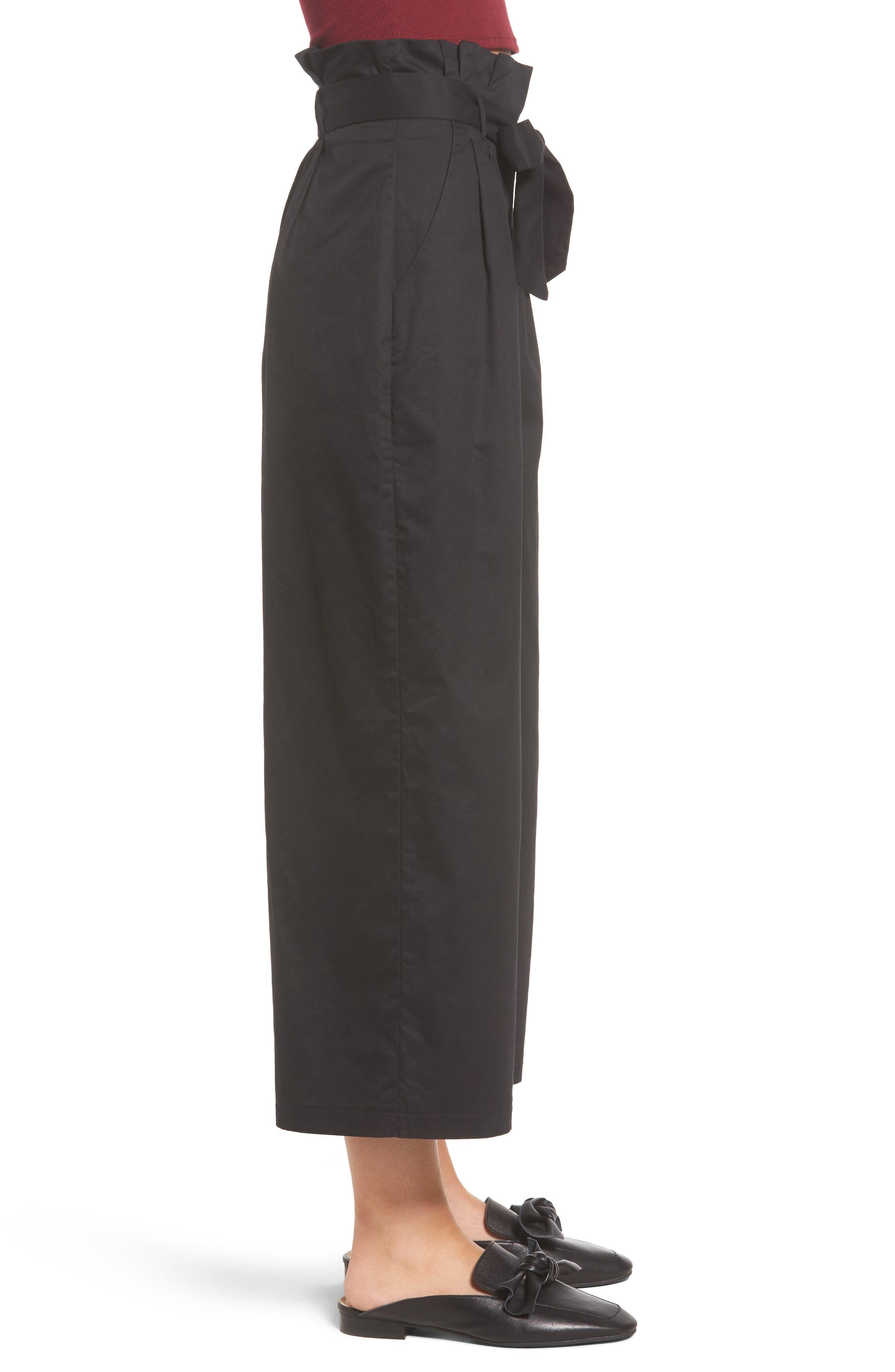 Alternate Image 3  - Soprano Paperbag Waist Wide Leg Pants