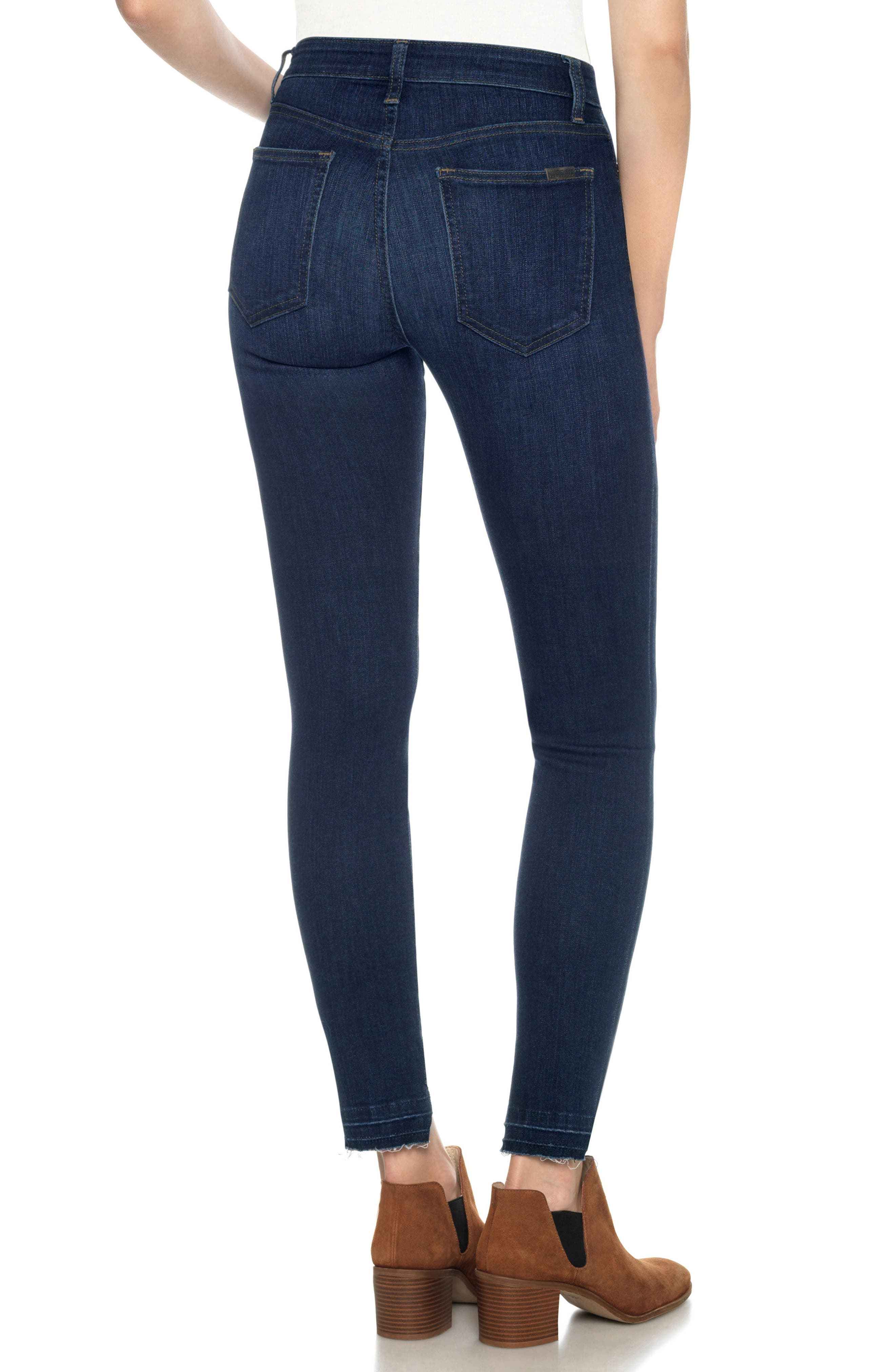 Flawless - Charlie High Waist Step Hem Ankle Skinny Jeans,                             Alternate thumbnail 2, color,                             Nurie