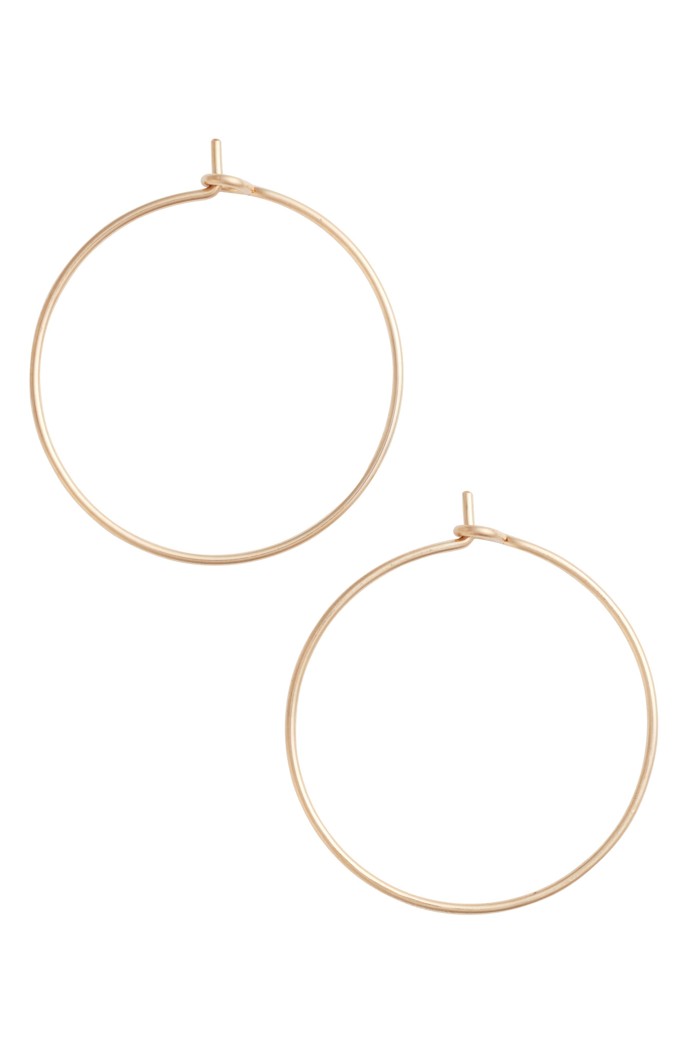 Medium Pure Hoop Earrings,                         Main,                         color, Gold