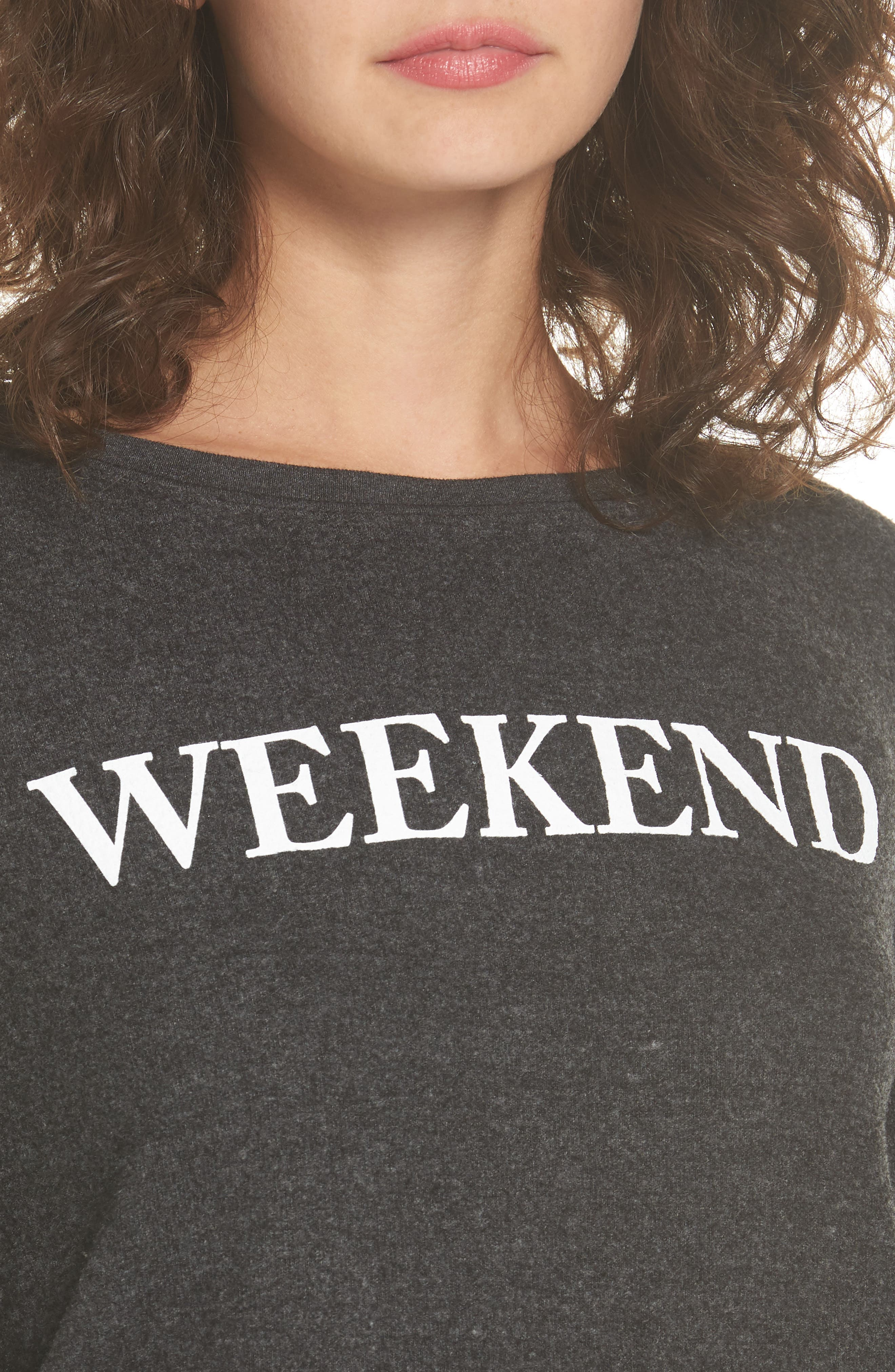 Weekend Pullover,                             Alternate thumbnail 4, color,                             Black