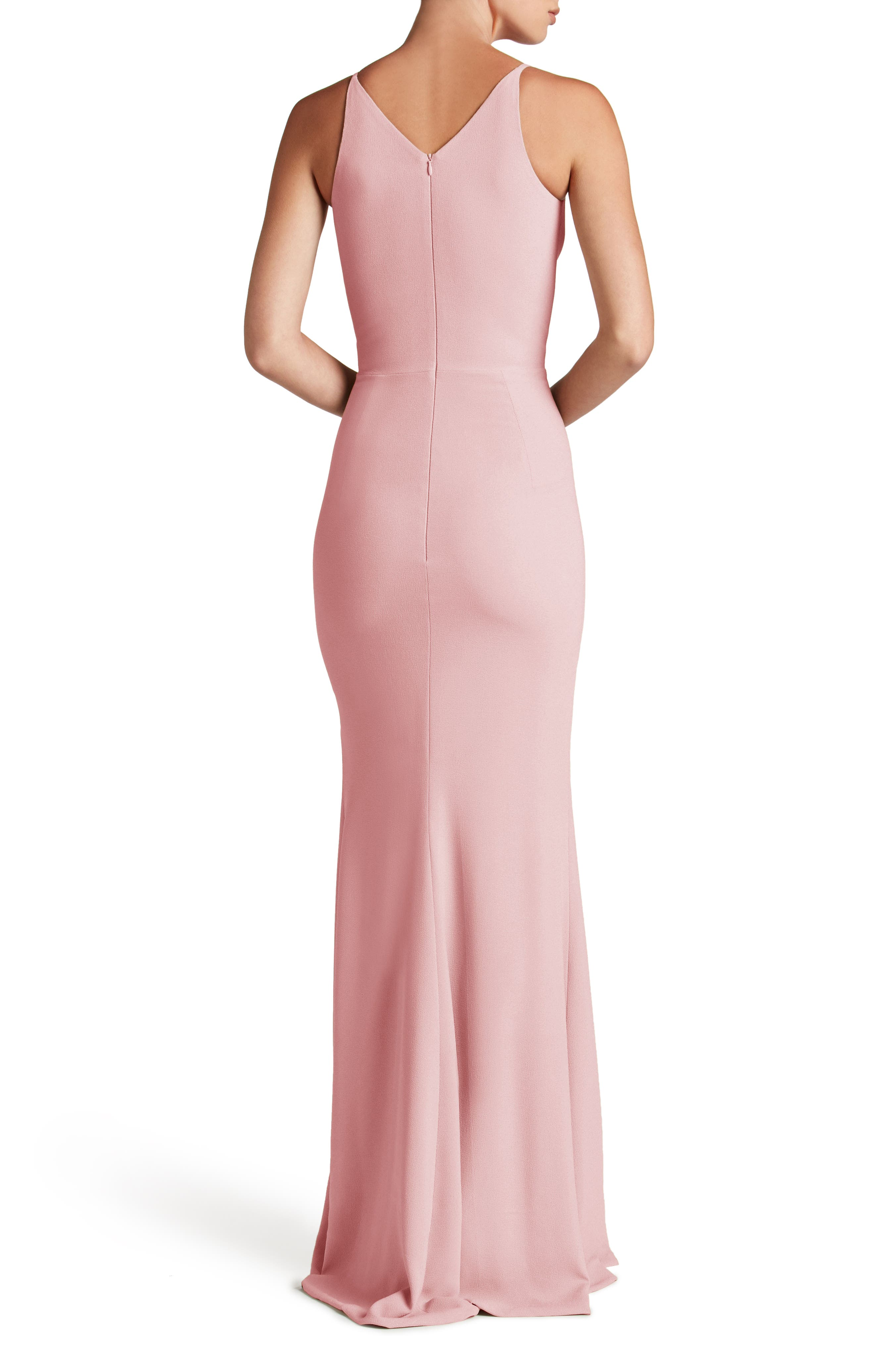Alternate Image 2  - Dress the Population Iris Slit Crepe Gown