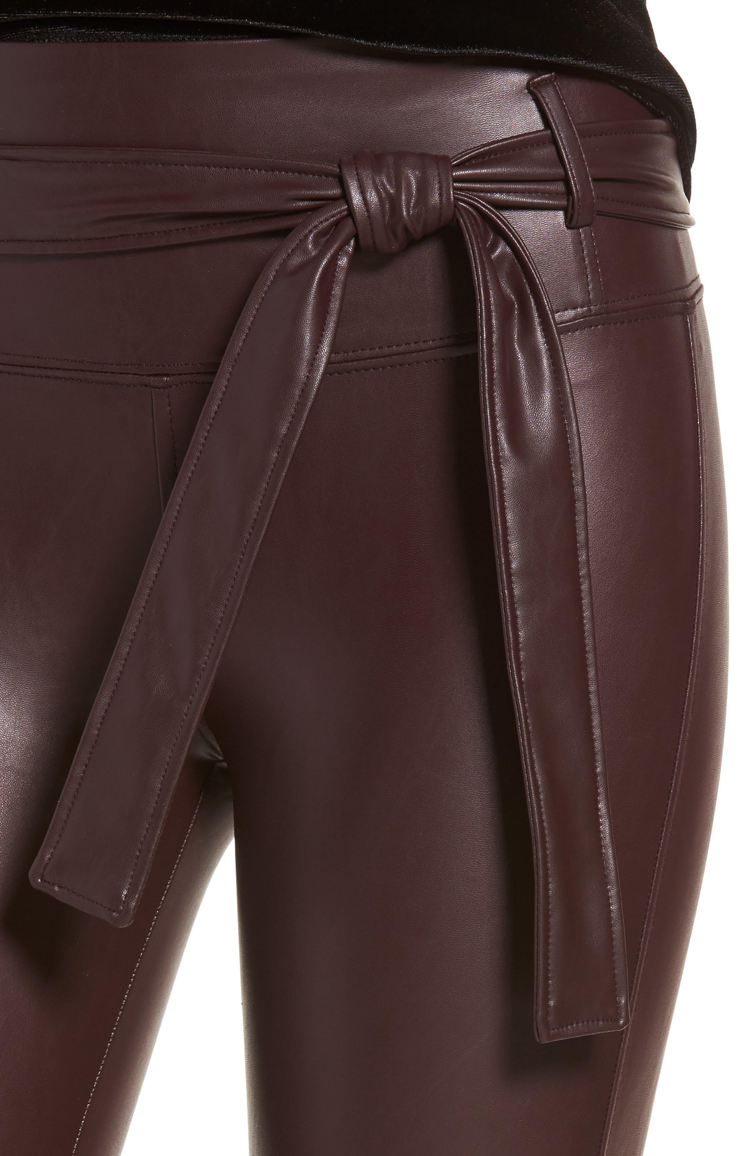 Alternate Image 5  - David Lerner Elliot High Waist Faux Leather Leggings
