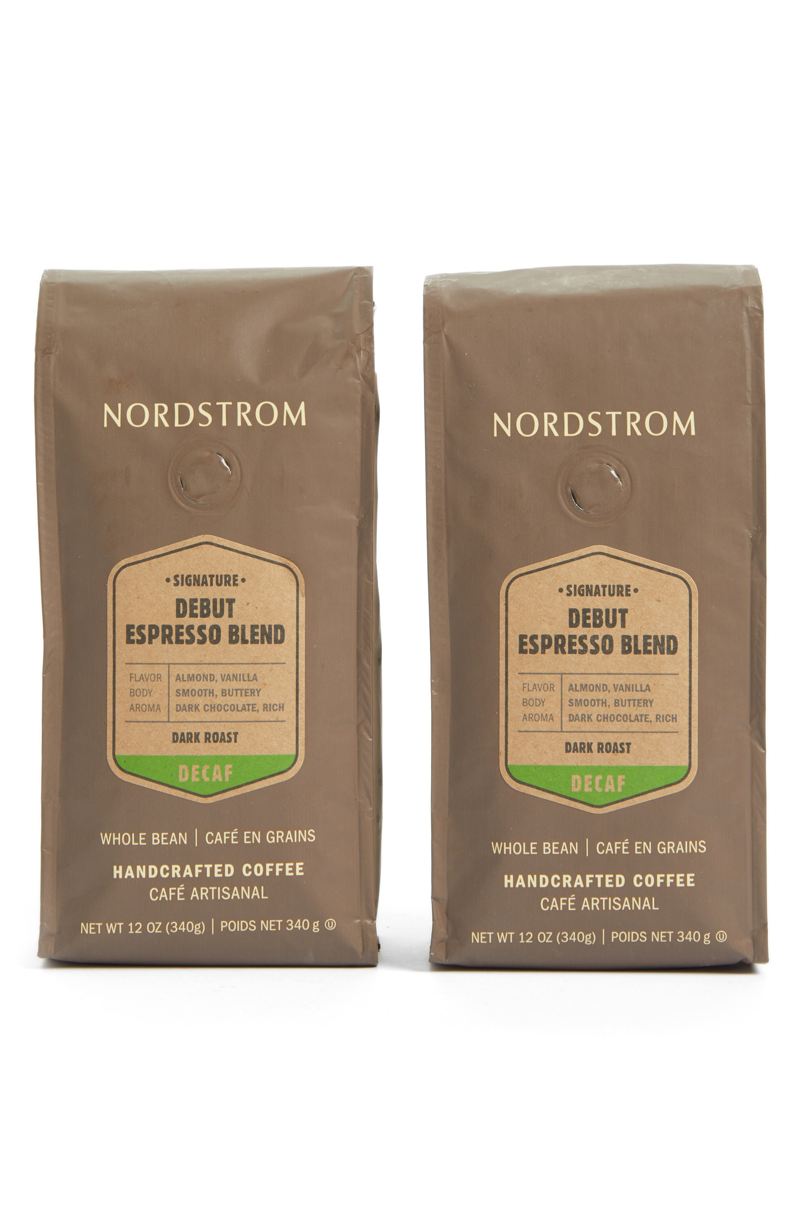 Main Image - Nordstrom Coffee 'Debut Espresso Blend - Decaf' Whole Bean Coffee (2-Pack)