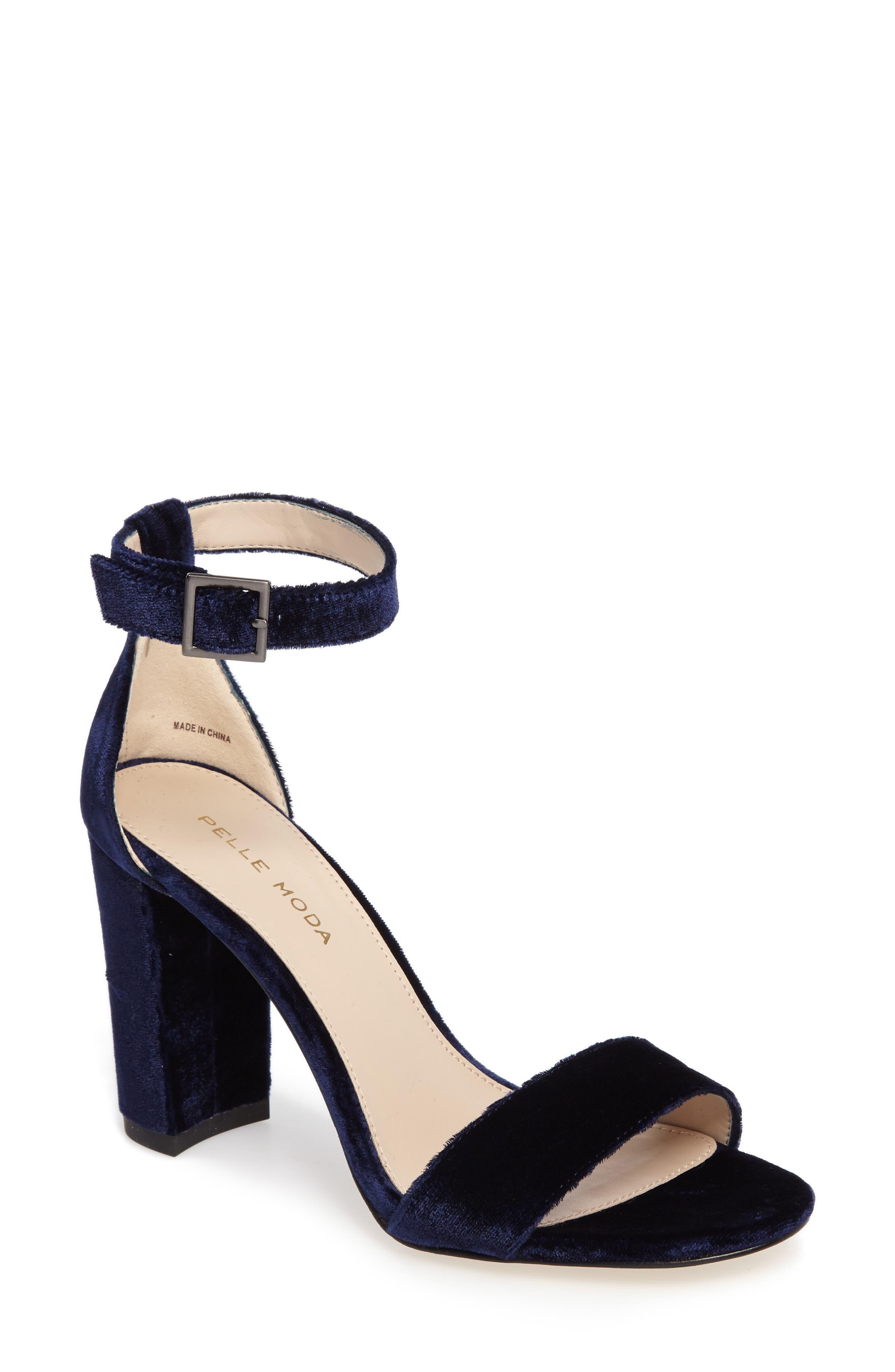Bonnie Ankle Strap Sandal,                             Main thumbnail 1, color,                             Midnight