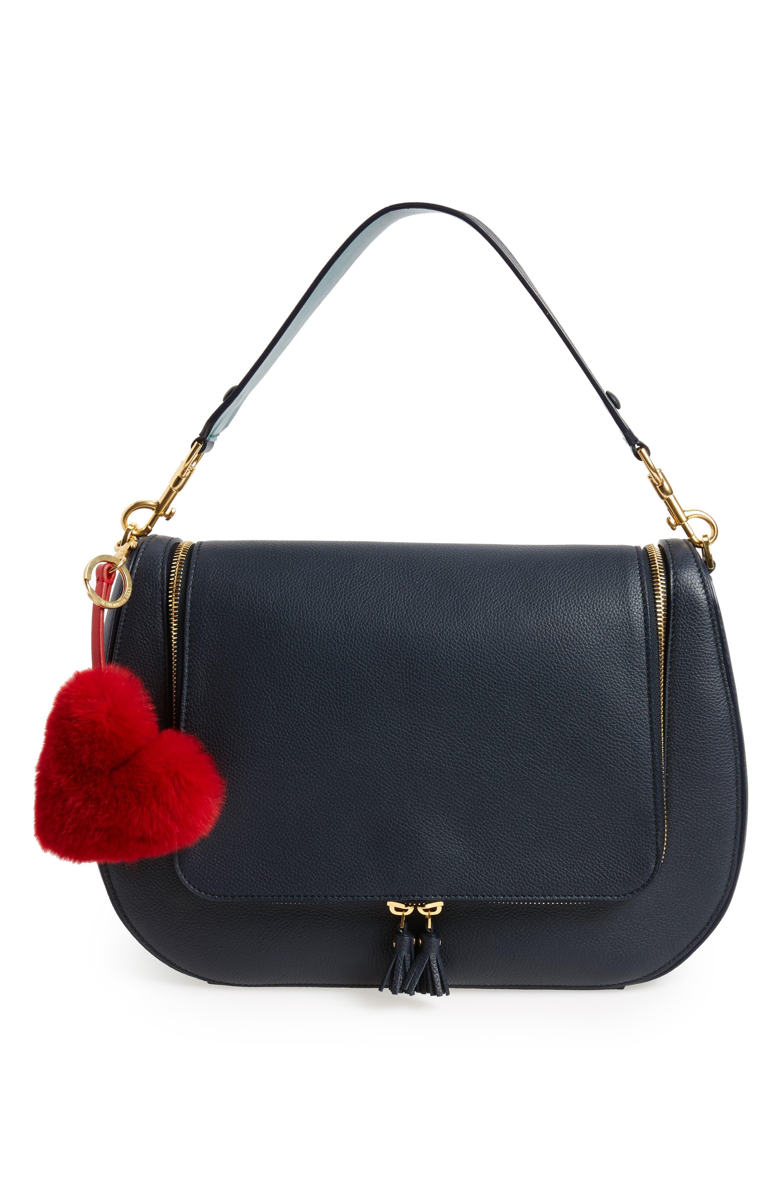 Alternate Image 2  - Anya Hindmarch Heart Genuine Rabbit Fur Bag Charm
