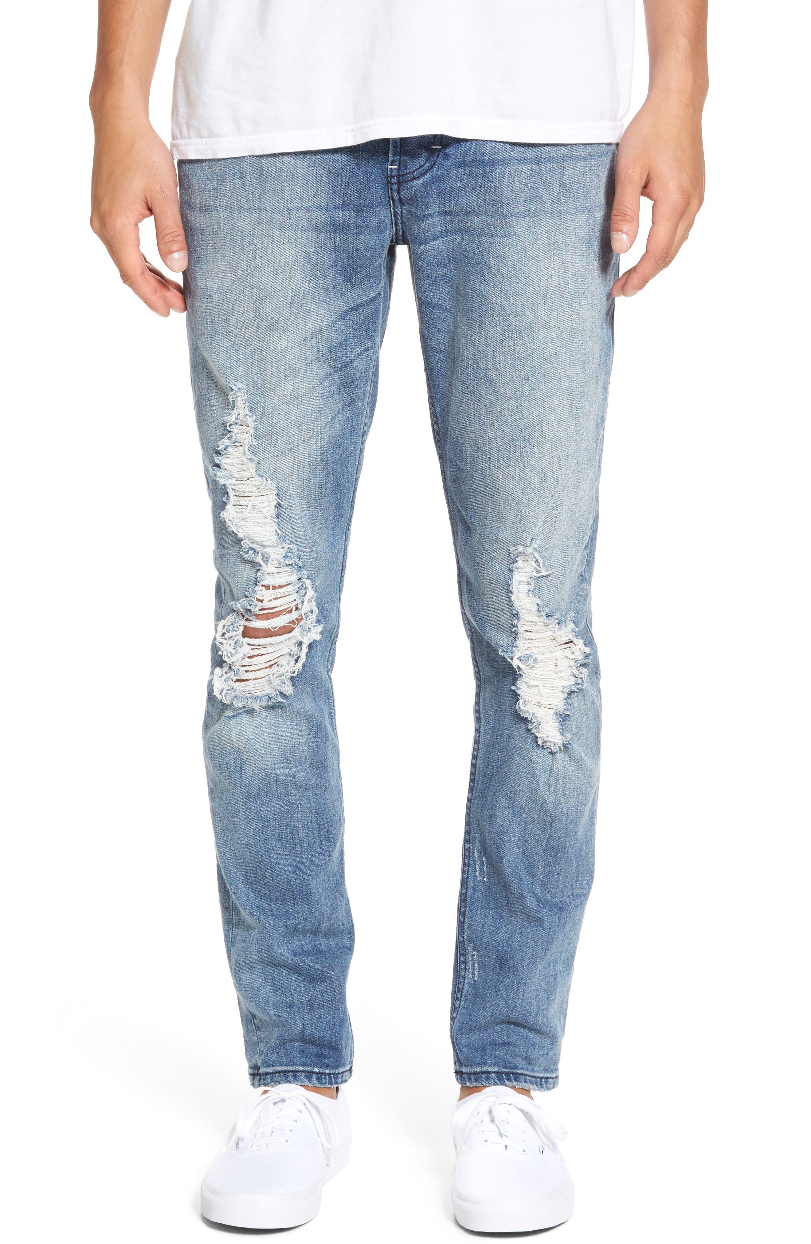 B.Line Slim Fit Jeans,                             Main thumbnail 1, color,                             Blow Out Stonewash