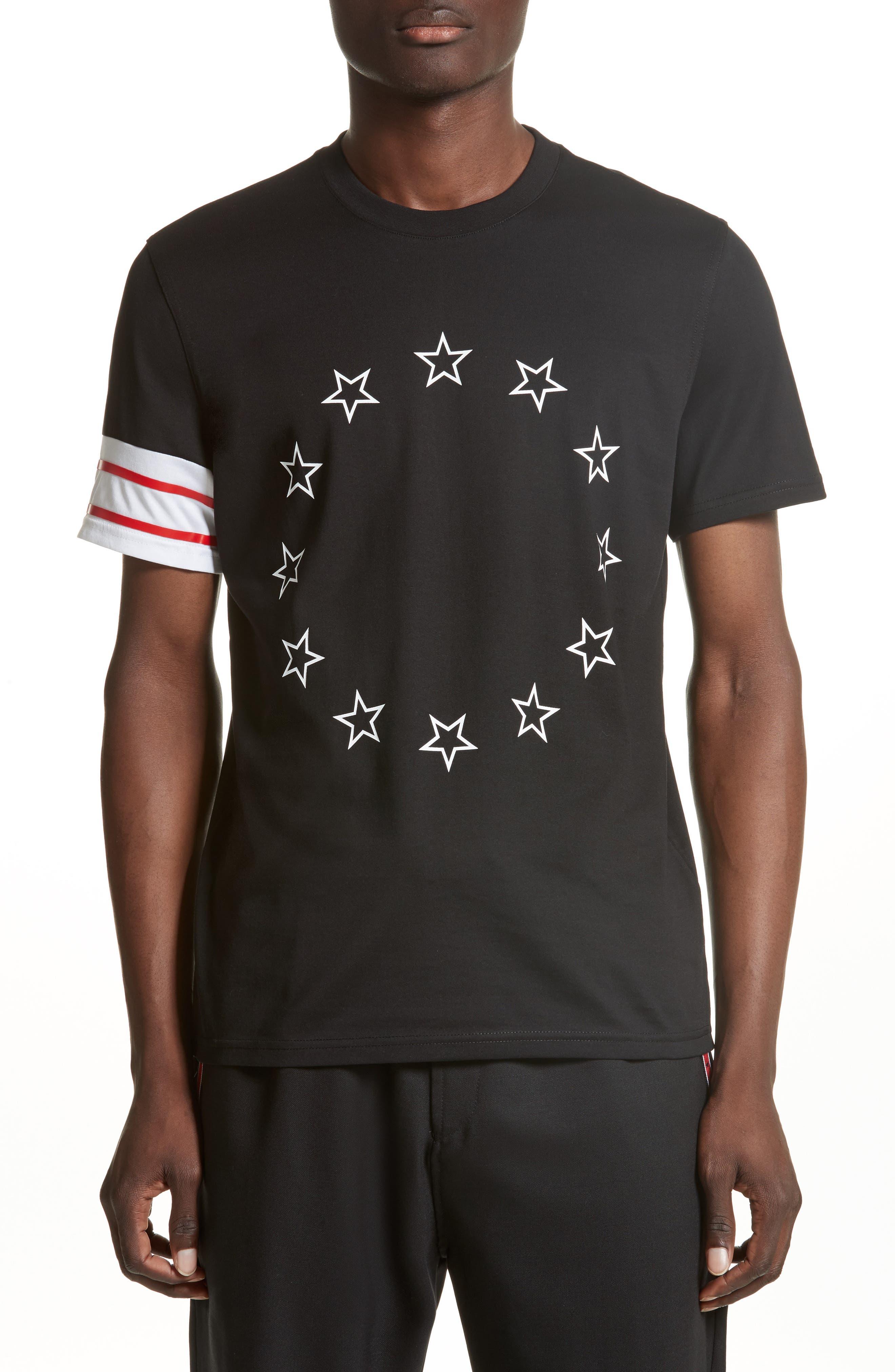 Cuban Fit Circle Star Graphic T-Shirt,                         Main,                         color, Black