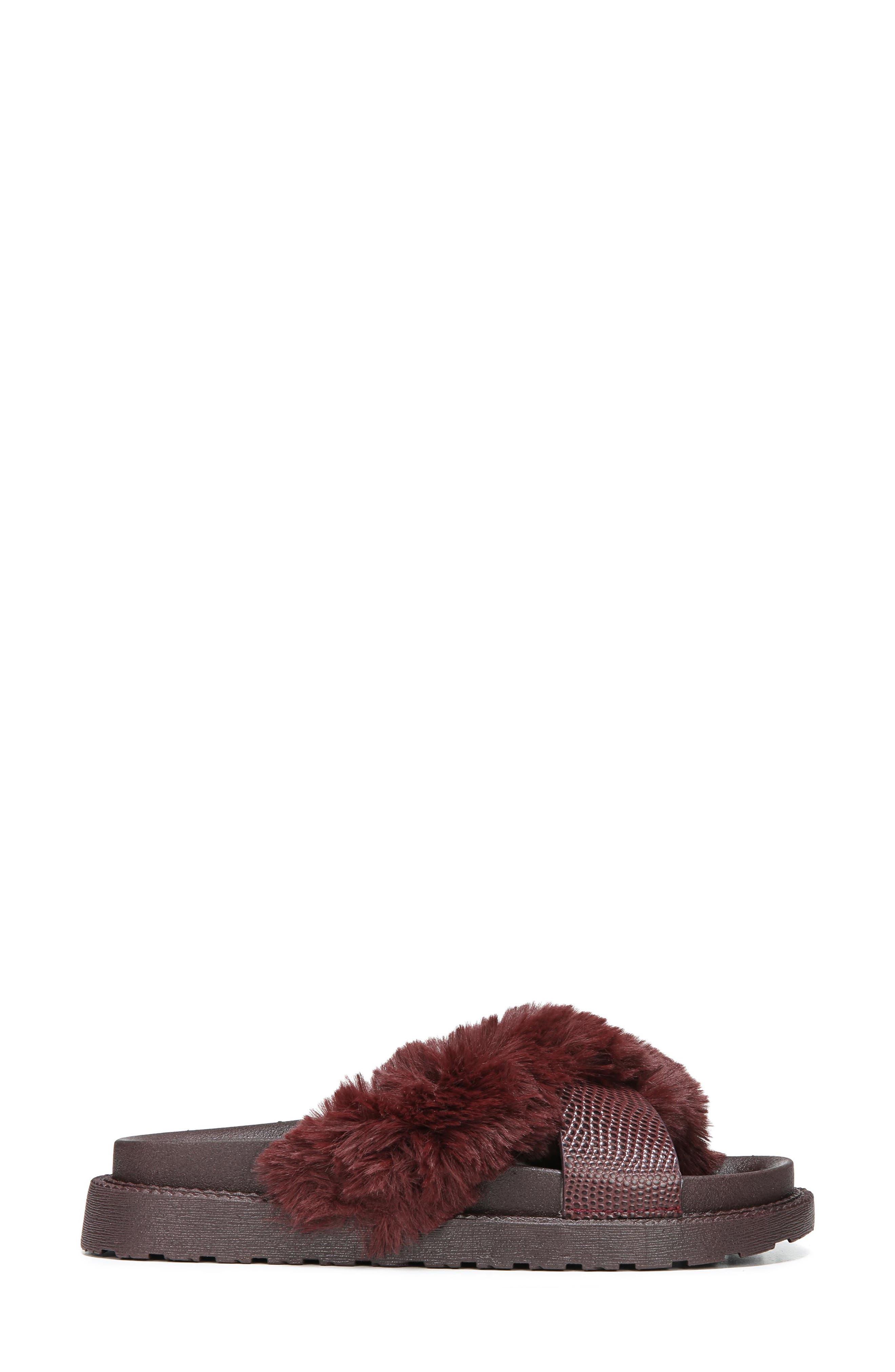 Alternate Image 3  - Sam Edelman Bianca Faux Fur Cross Strap Sandal (Women)