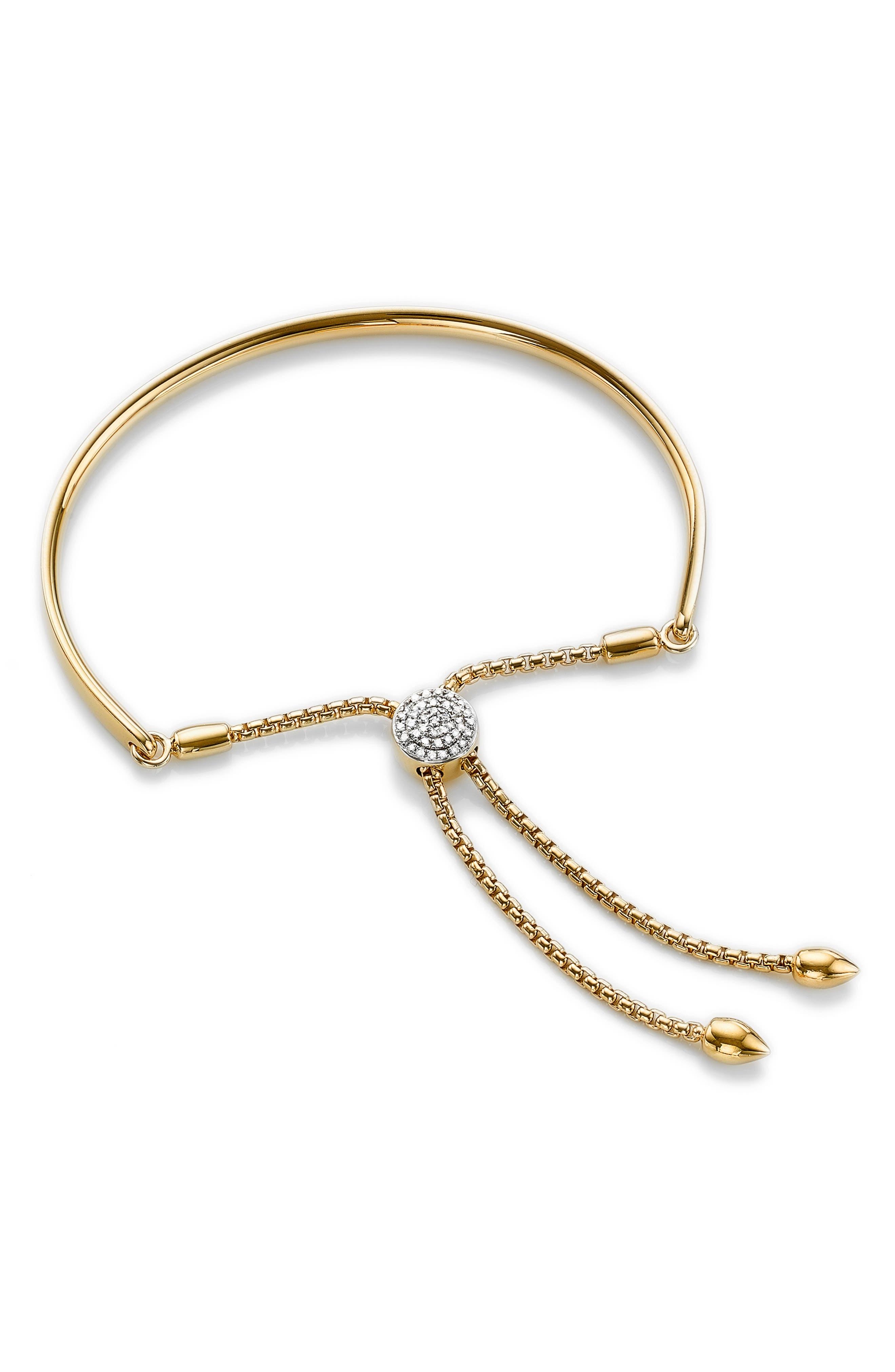 Fiji Diamond Toggle Bracelet,                             Main thumbnail 1, color,                             Gold/ Diamond