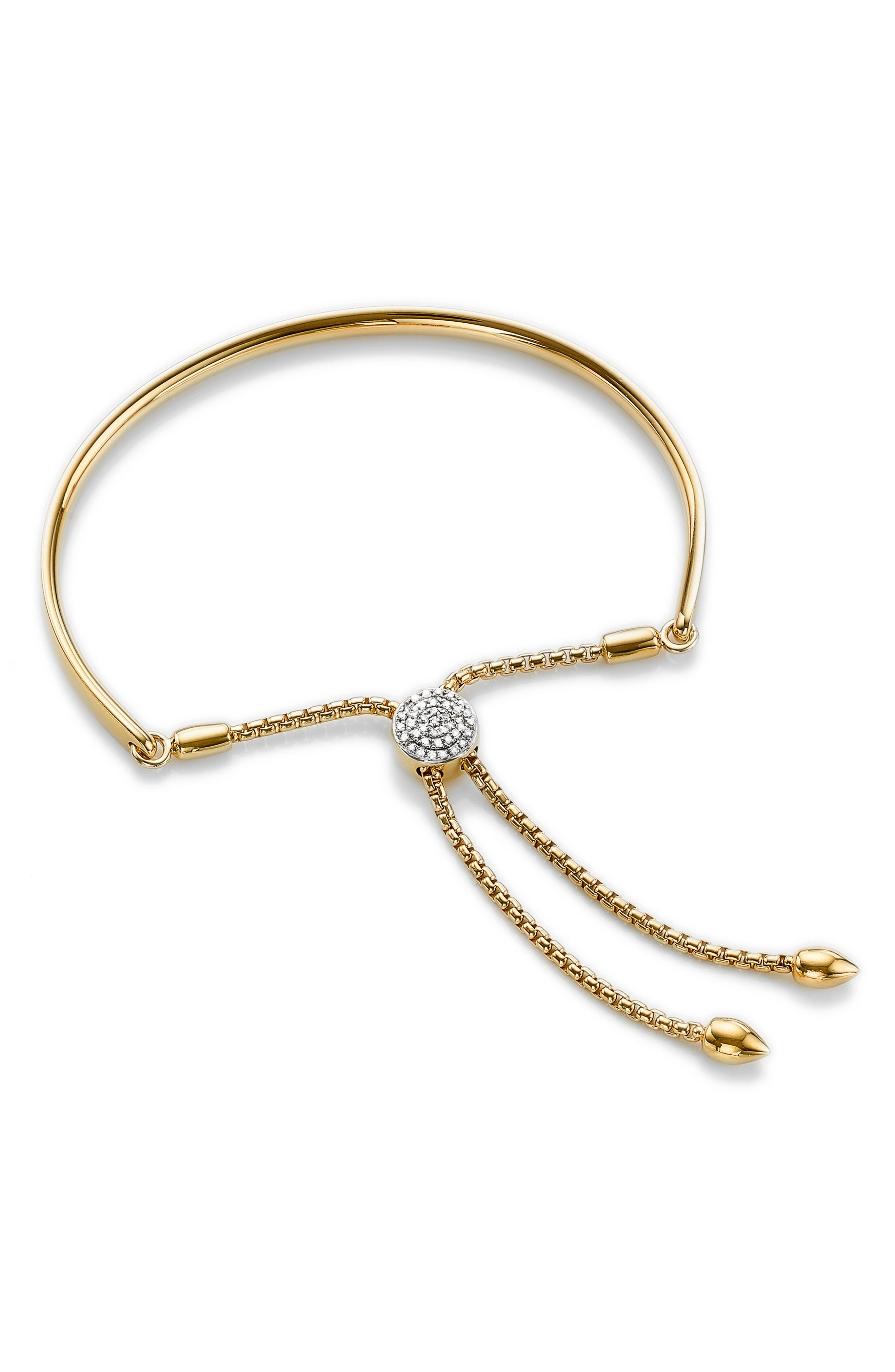 Alternate Image 1 Selected - Monica Vinader Fiji Diamond Toggle Bracelet