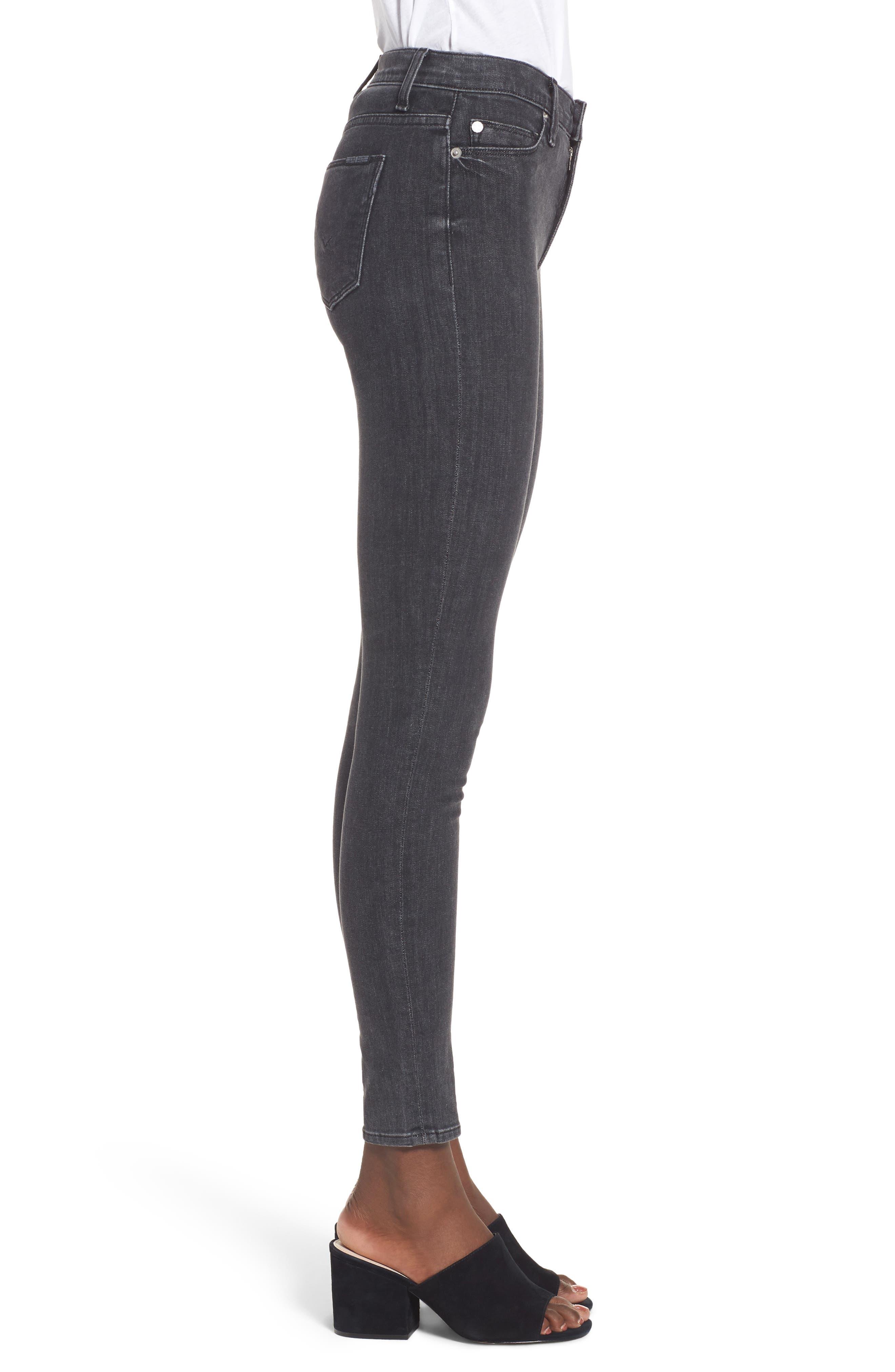 Hudson Barbara High Waist Super Skinny Jeans,                             Alternate thumbnail 3, color,                             Disarm