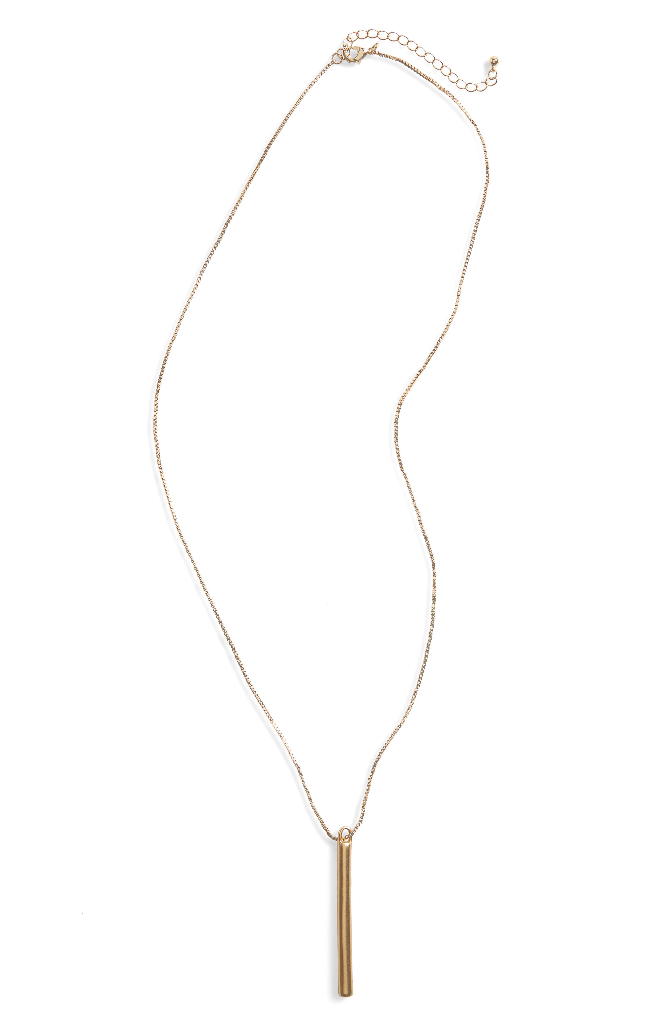 Main Image - BP. Bar Pendant Necklace