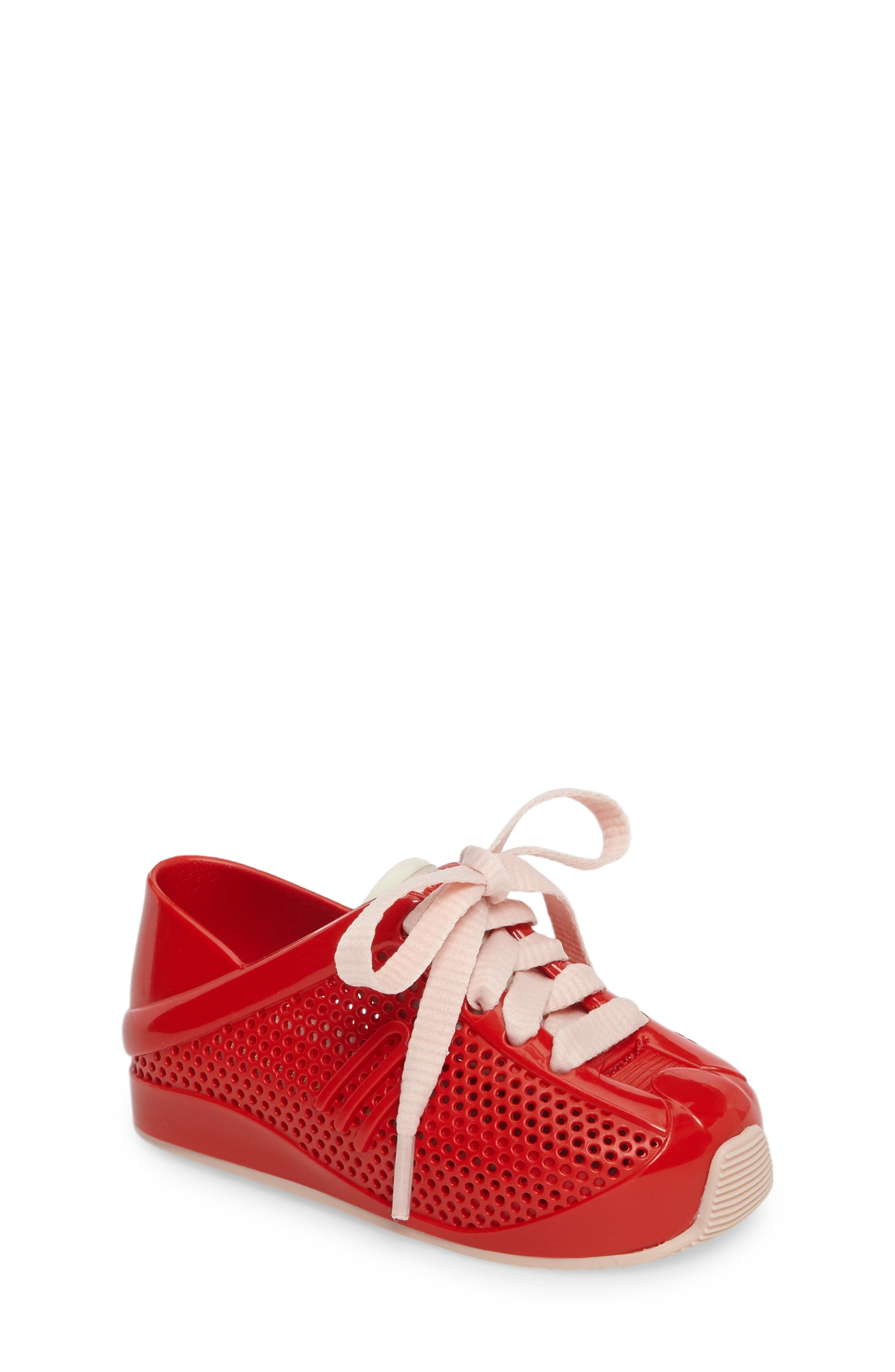 Mini Melissa 'Love System' Sneaker (Walker & Toddler)