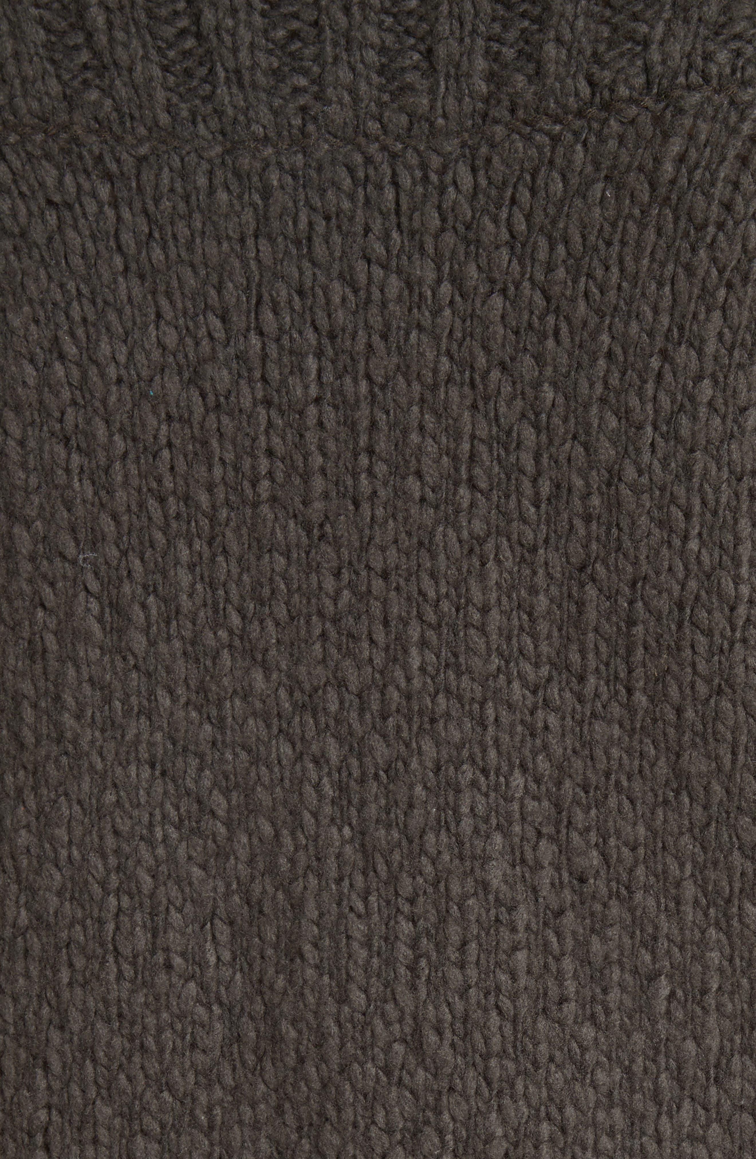 Ribbed Yoke Knit Sweater,                             Alternate thumbnail 5, color,                             Graphite