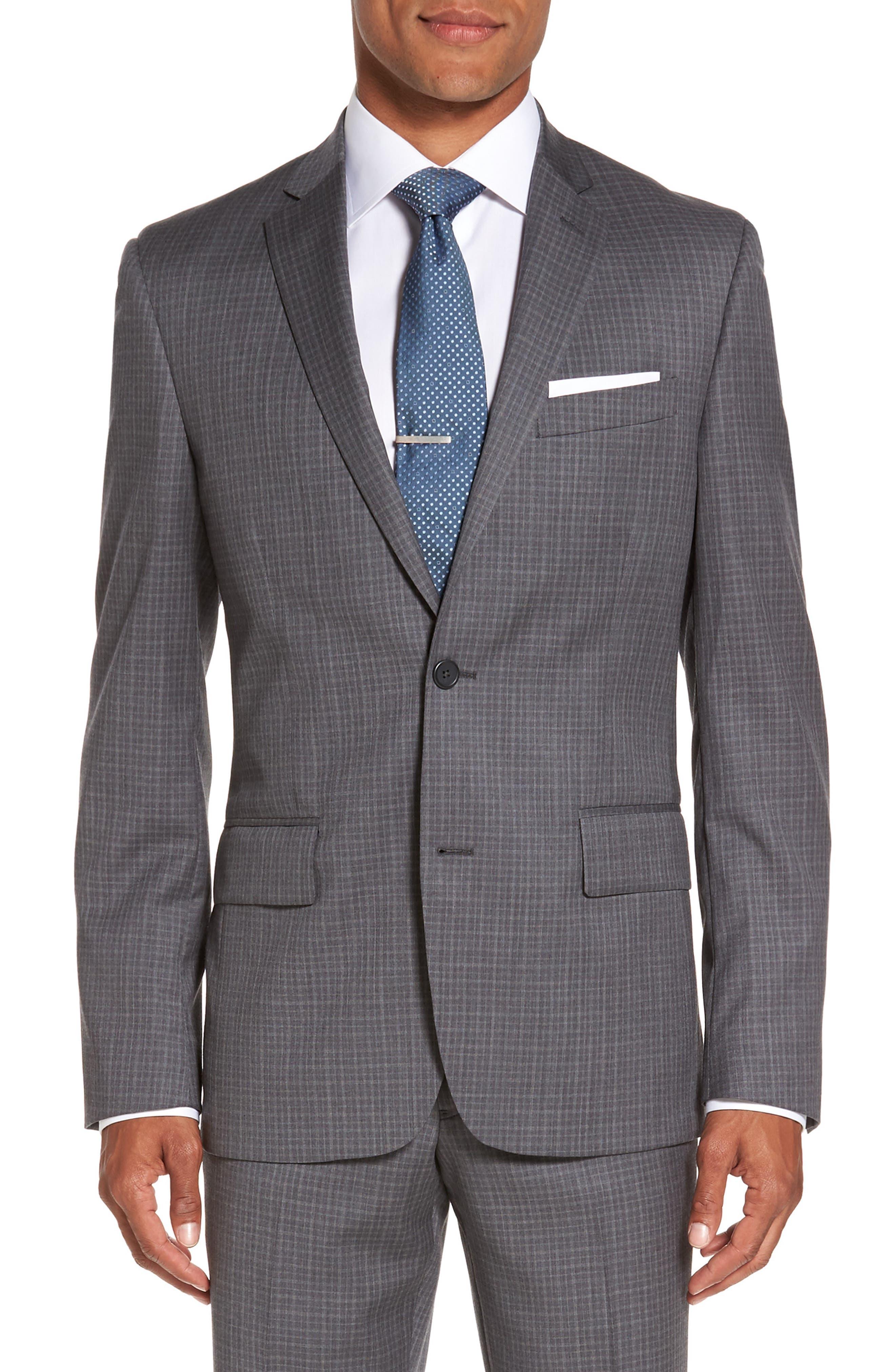 Nordstrom Men's Shop Cross Hatch Wool Sport Coat