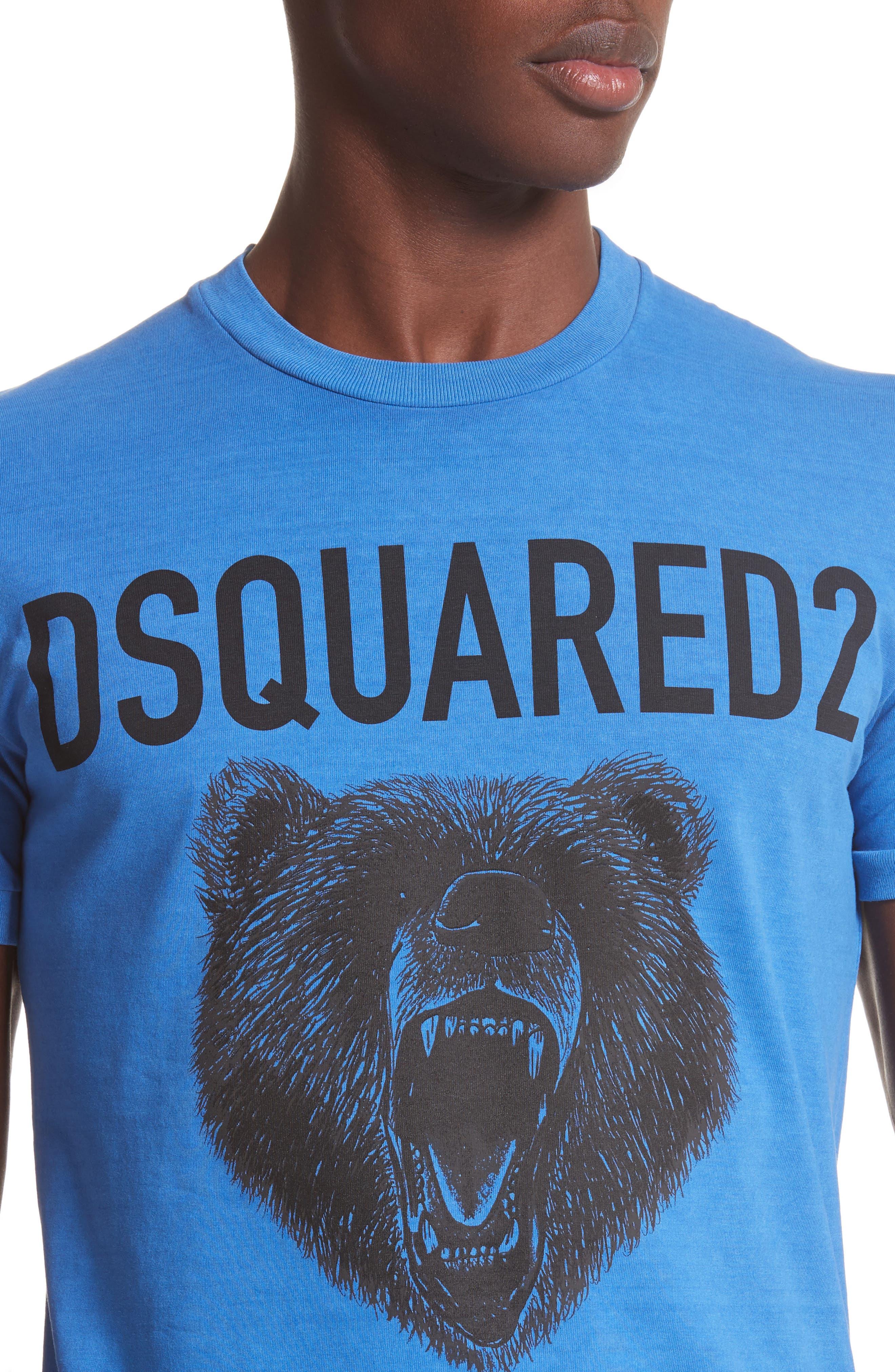 Bear Graphic T-Shirt,                             Alternate thumbnail 4, color,                             Light Blue