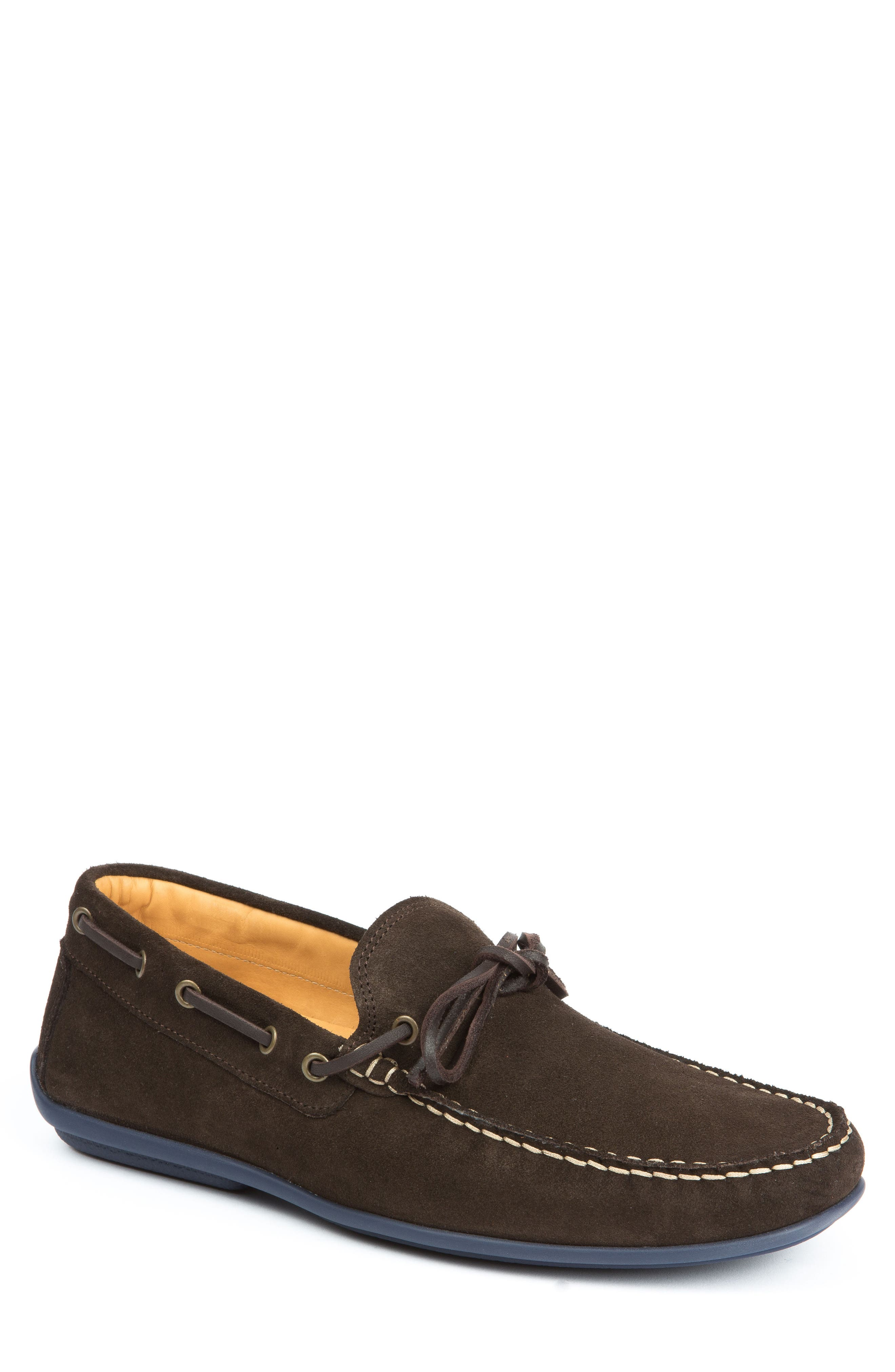Kingstons Driving Shoe,                             Main thumbnail 1, color,                             Brown Suede