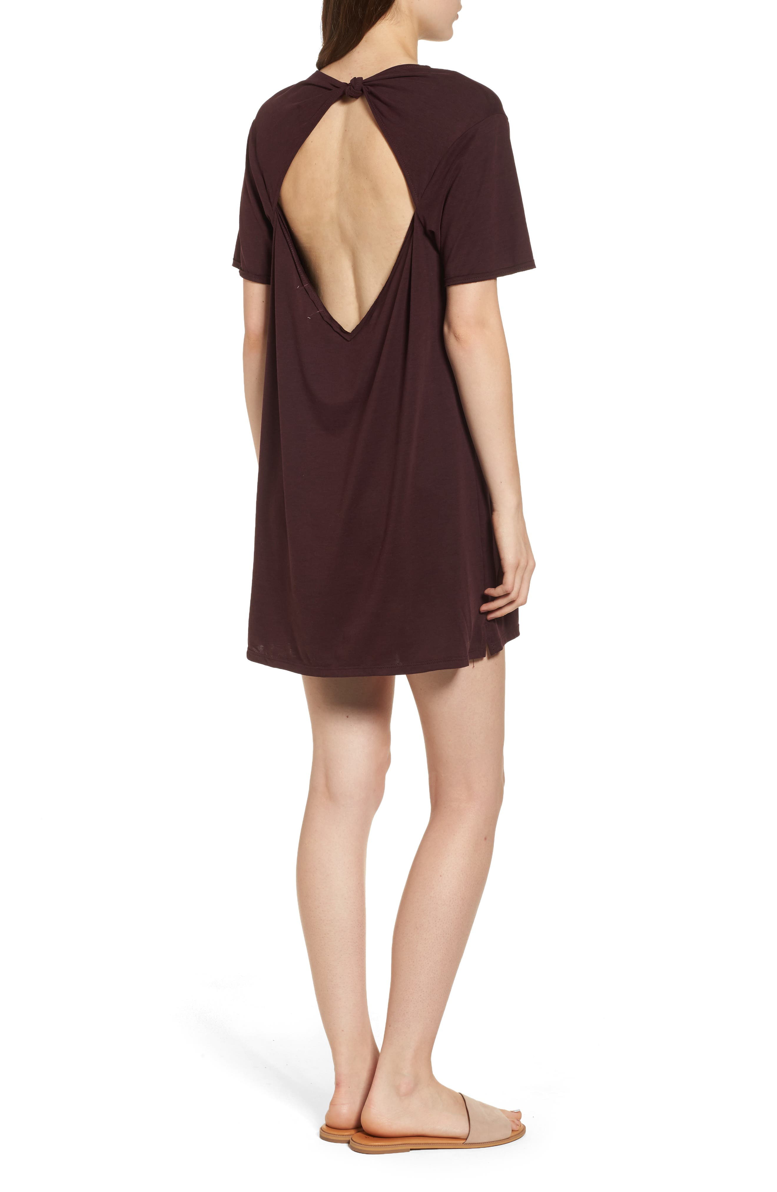 Alternate Image 2  - PST by Project Social T Tie Back T-Shirt Dress