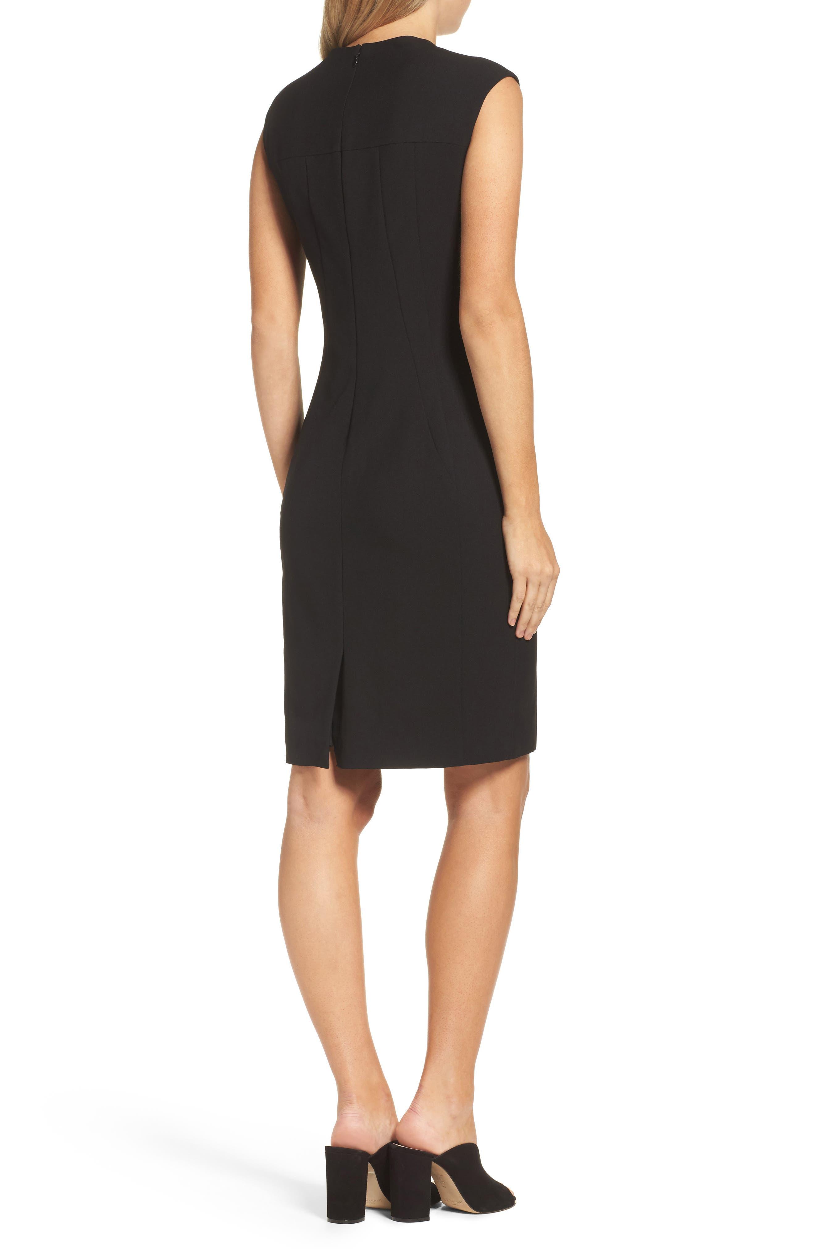 Sheath Dress,                             Alternate thumbnail 2, color,                             Black